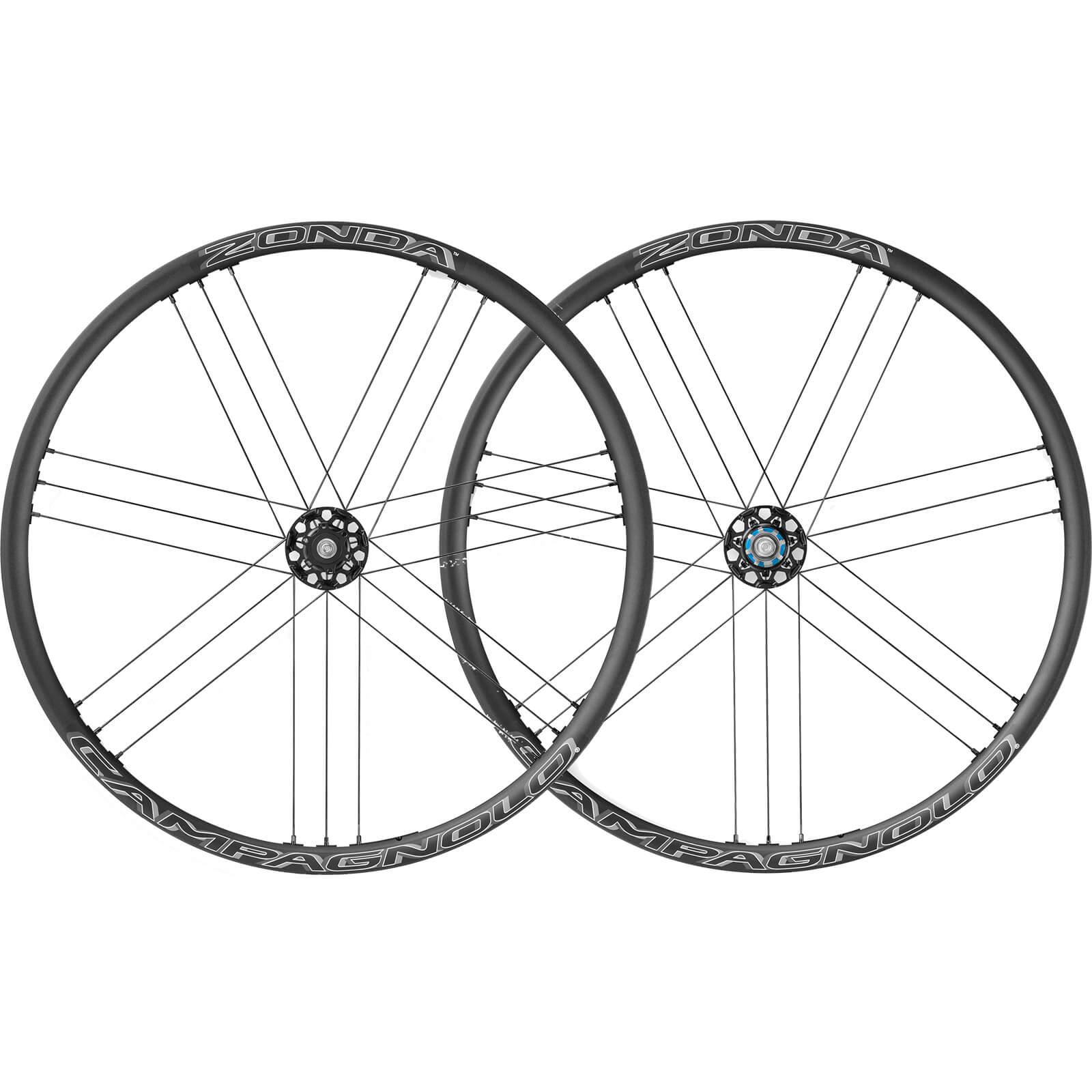 Campagnolo Zonda C17 Disc Brake Bolt-Thru Clincher Wheelset 2018 - Black - AFS Rotor - Campagnolo - Dark Label