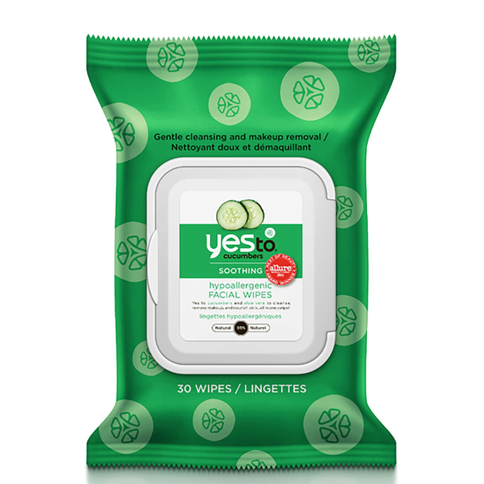 Купить Гипоаллергенные очищающие салфетки с экстрактом огурца yes to Cucumbers Hypoallergenic Facial Wipes (упаковка из 30 шт.)