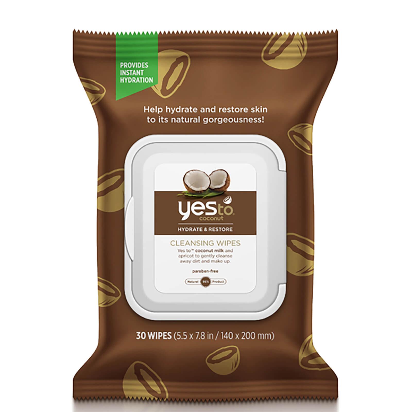 Купить Очищающие салфетки с кокосом yes to Coconut Cleansing Wipes (упаковка из 30 шт.)