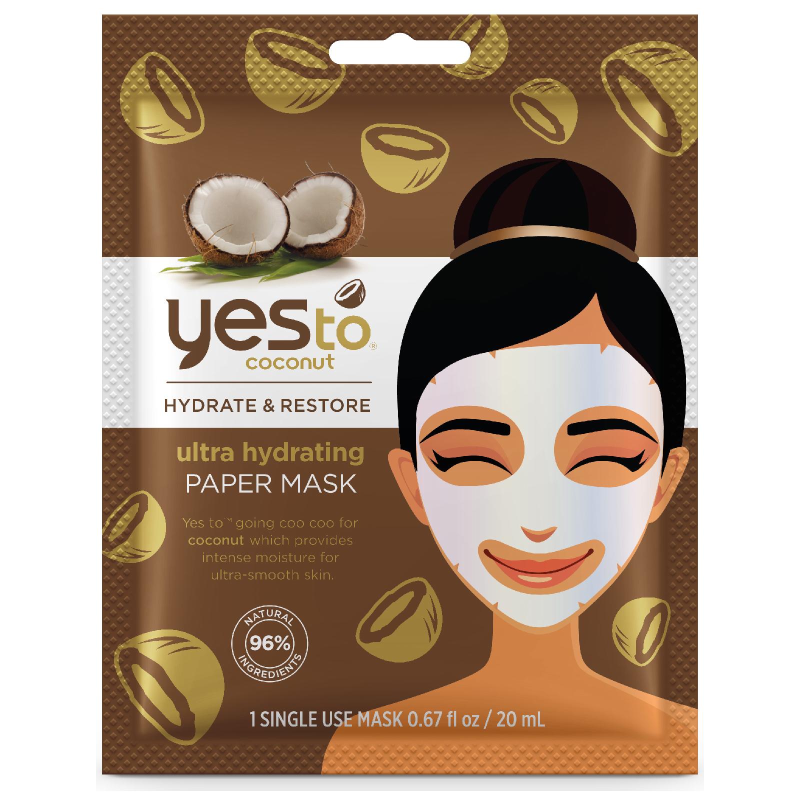 Купить Увлажняющая целлюлозная маска с кокосовым маслом yes to Coconut Ultra Hydrating Paper Mask