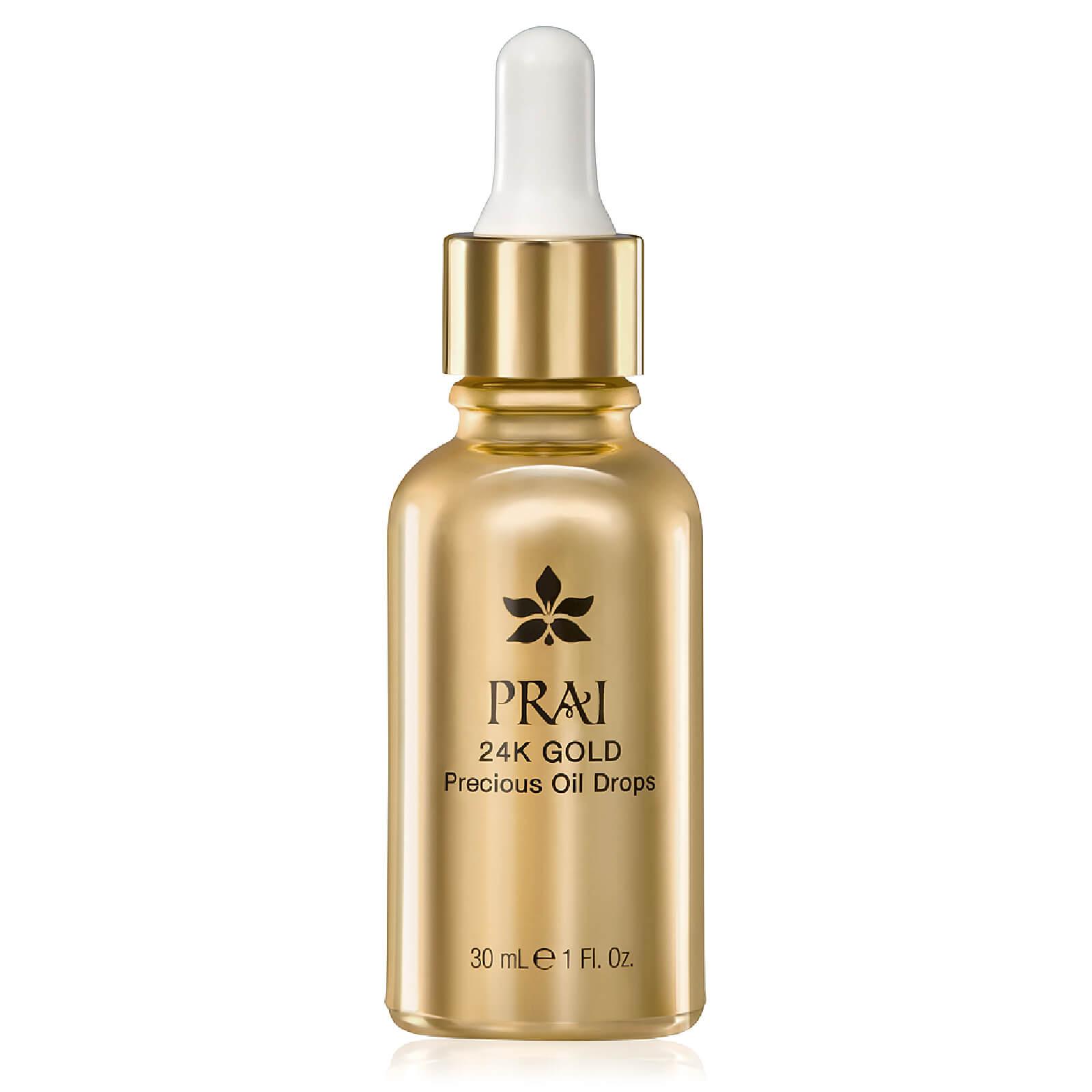 Купить Омолаживающее масло для лица с частицами 24-каратного золота PRAI 24K GOLD Precious Oil Drops 30мл