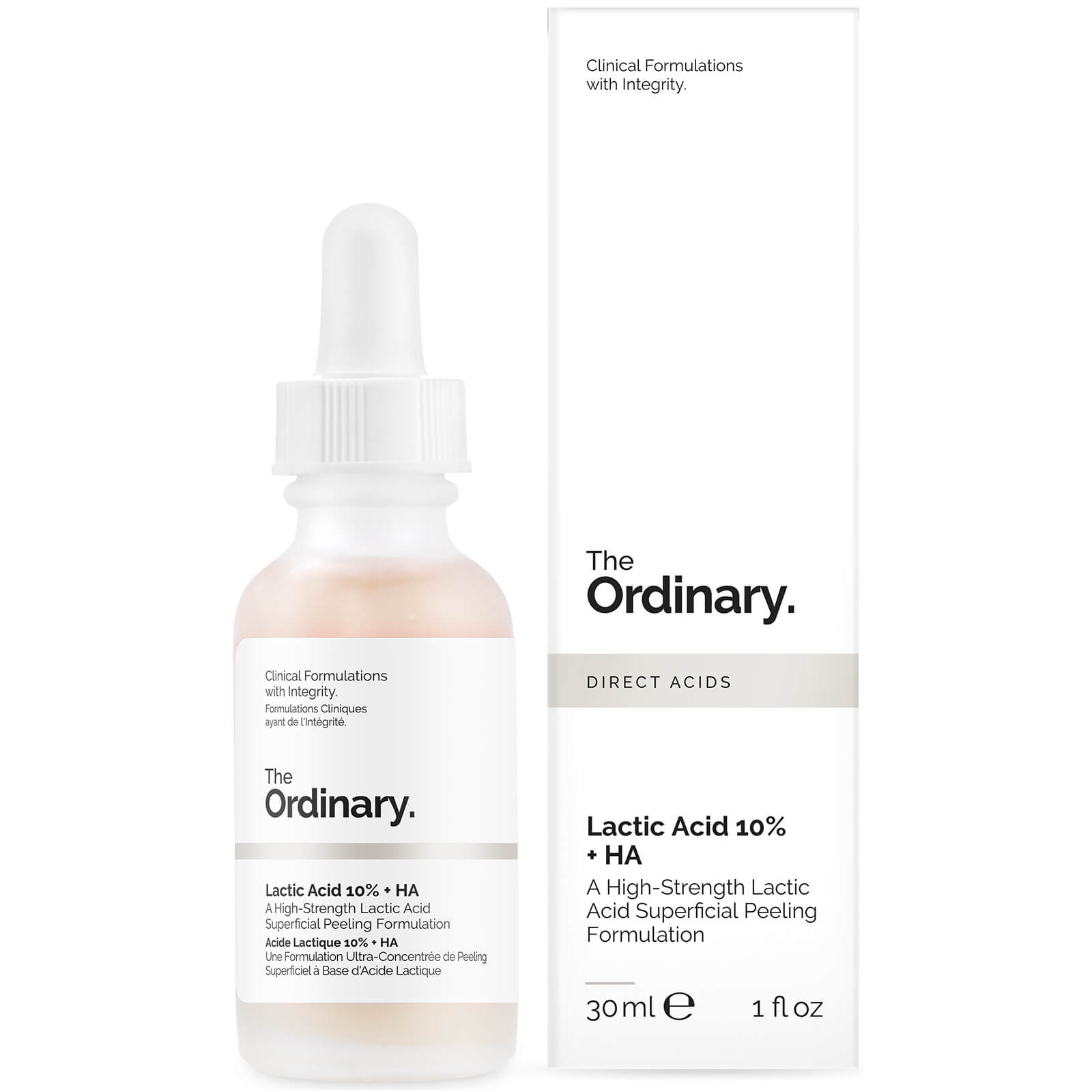 The Ordinary Lactic Acid 10% + HA 2% Superficial Peeling Formulation 30 ml