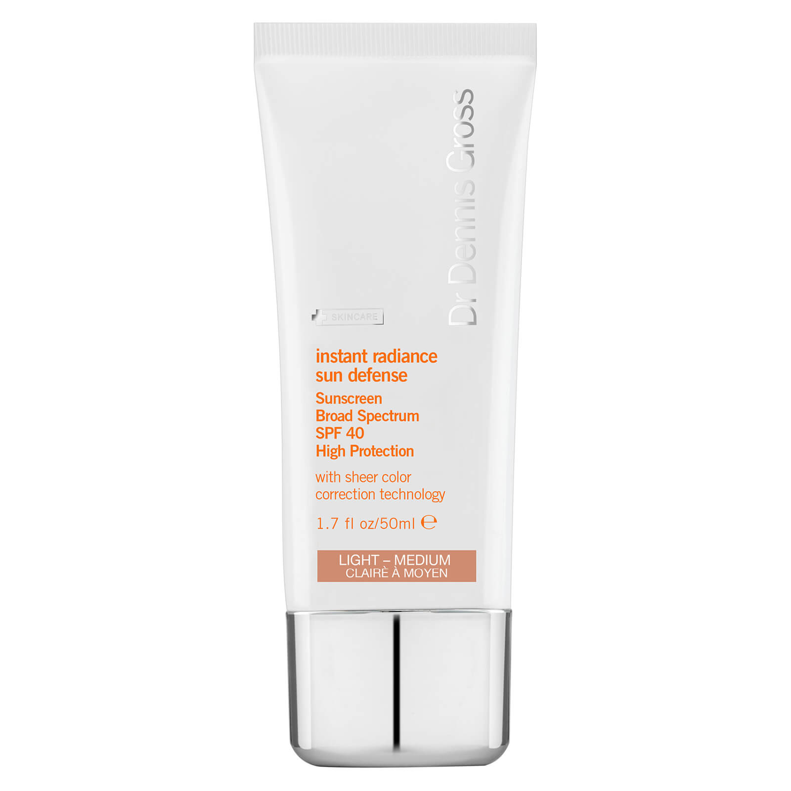 Купить Солнцезащитное средство Dr Dennis Gross Skincare Instant Radiance Sun Defense Broad Spectrum SPF40 - Light Medium 50 мл