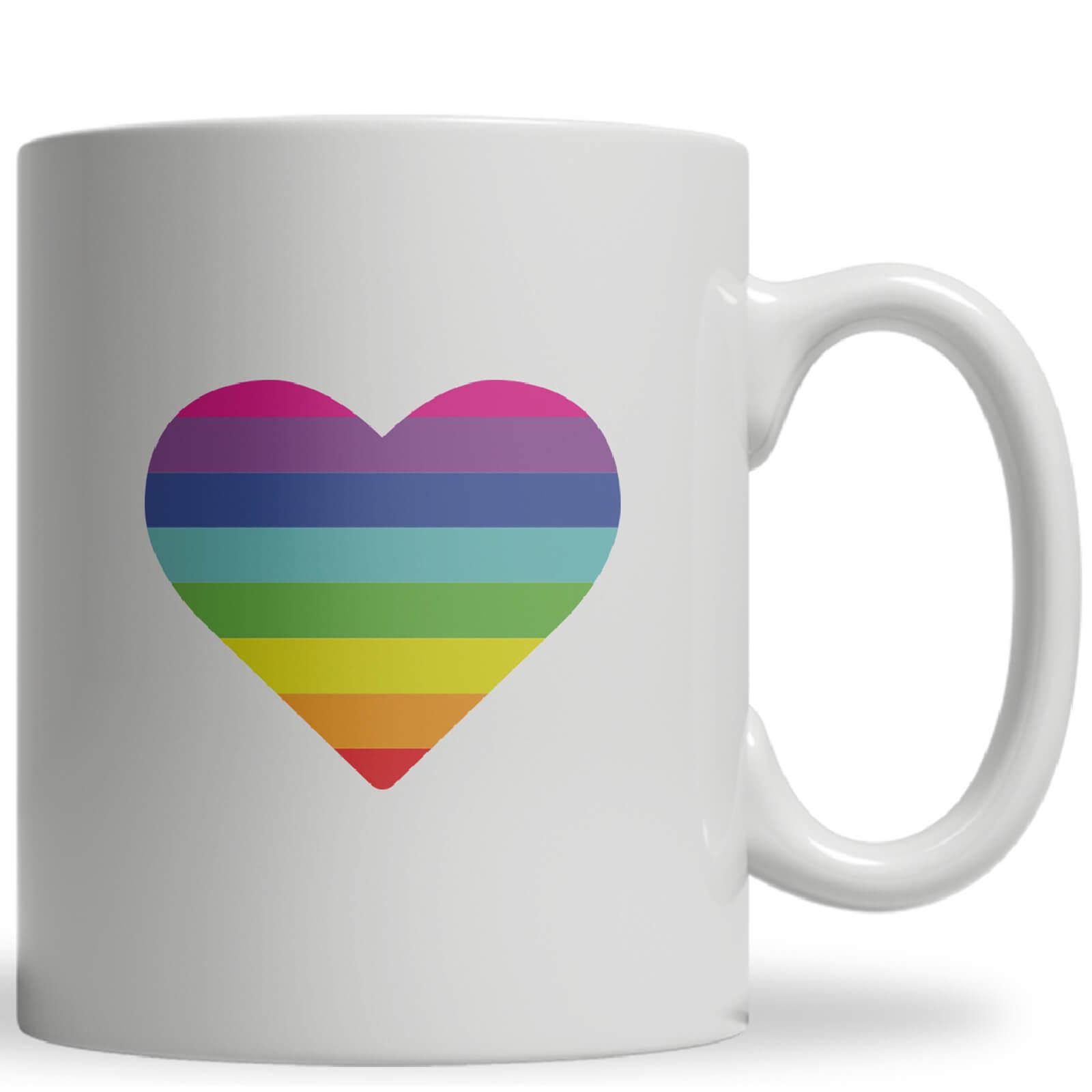 Rainbow Heart Ceramic Mug
