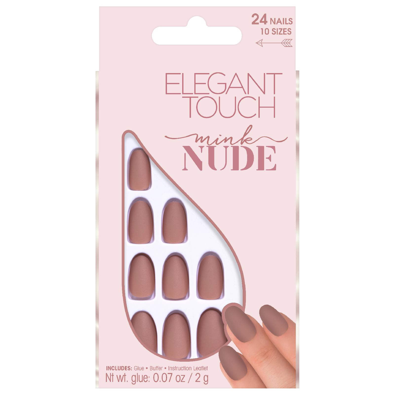Купить Матовые накрашенные накладные ногти коллекции «Nude» Elegant Touch Nude Collection Nails— Mink