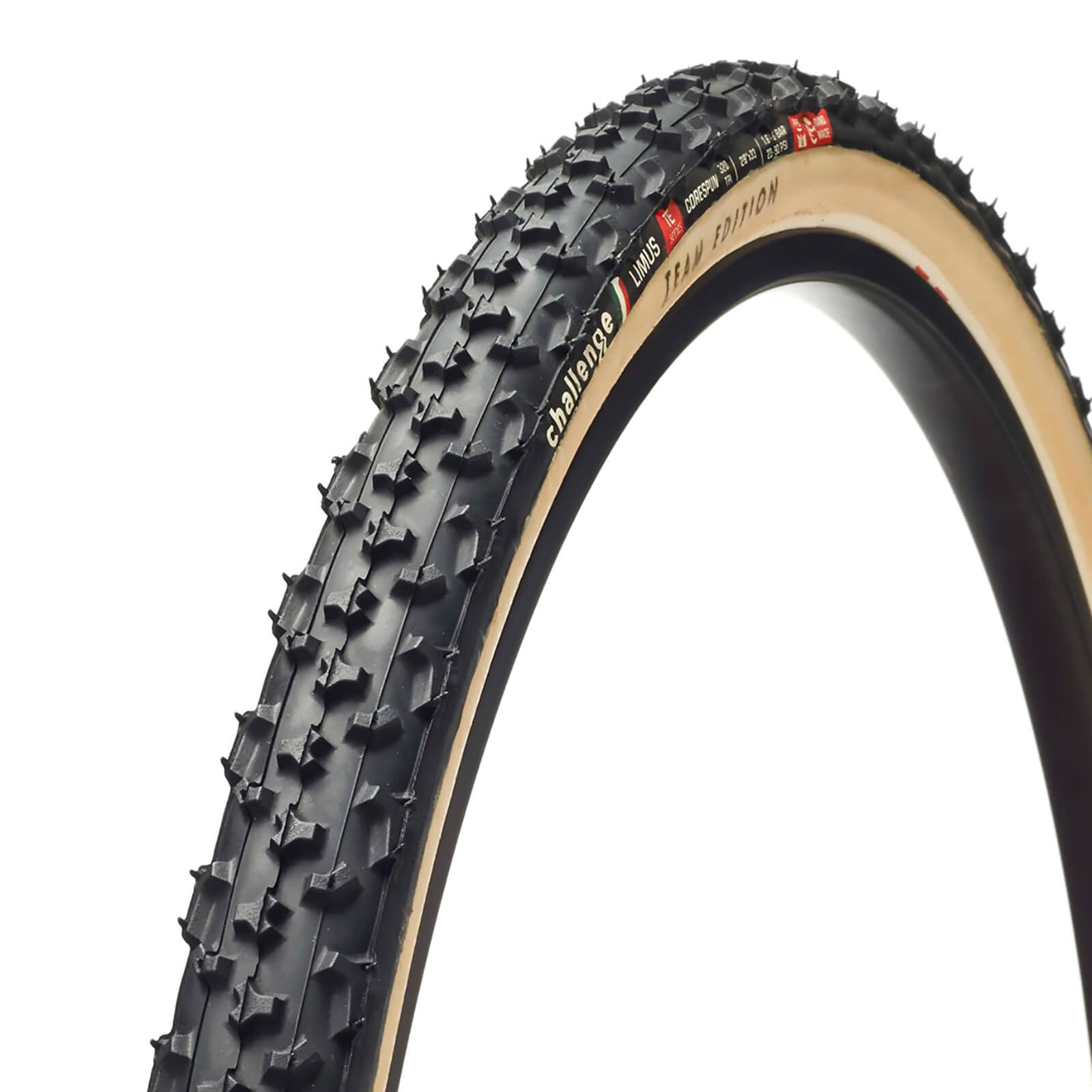 Challenge Baby Limus Clincher Cyclocross Tire - Black/Tan - 700c x 33mm
