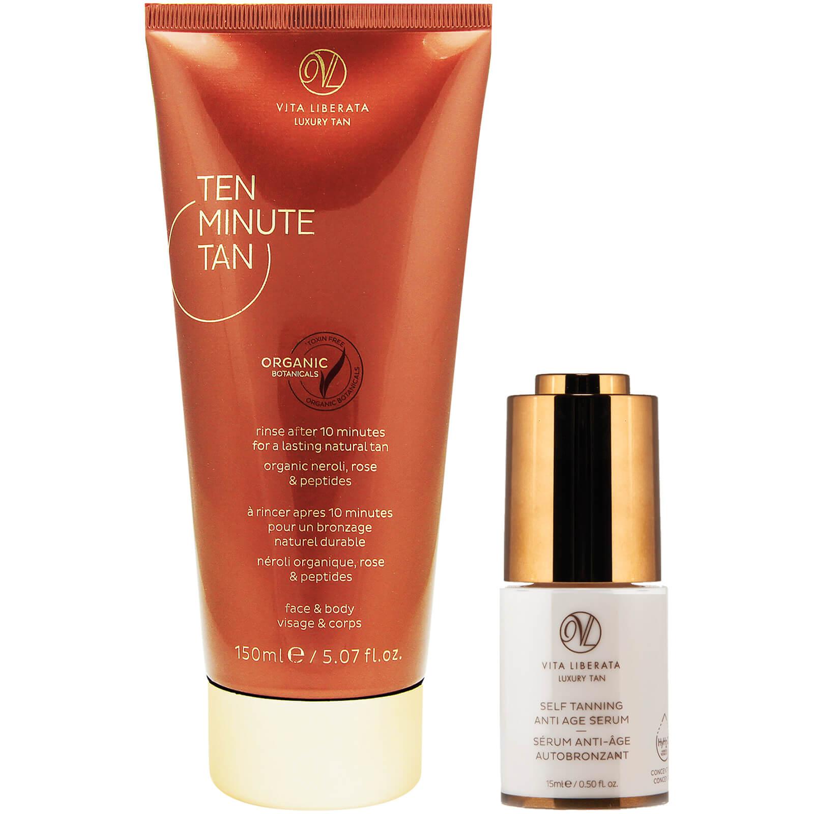 vita liberata ten minute tan & serum set (worth $73)