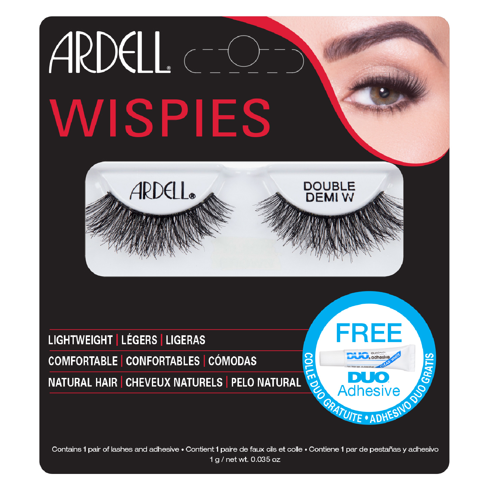 Ardell Double Up Demi Wispies False Eyelashes Black Free Us Shipping Lookfantastic