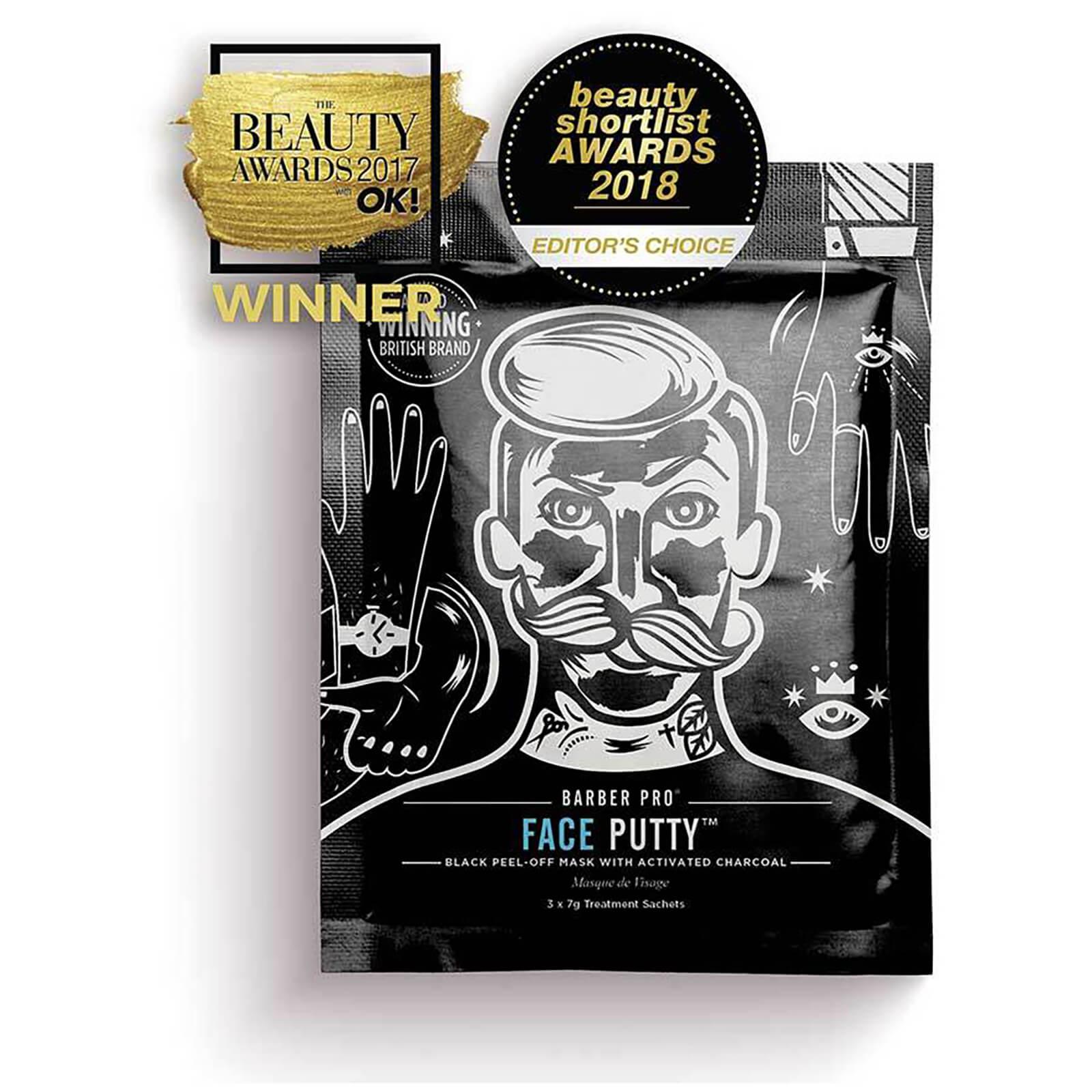 Купить Маска-пленка с активированным углем BARBER PRO Face Putty Black Peel-Off Mask with Activated Charcoal (3 применения)