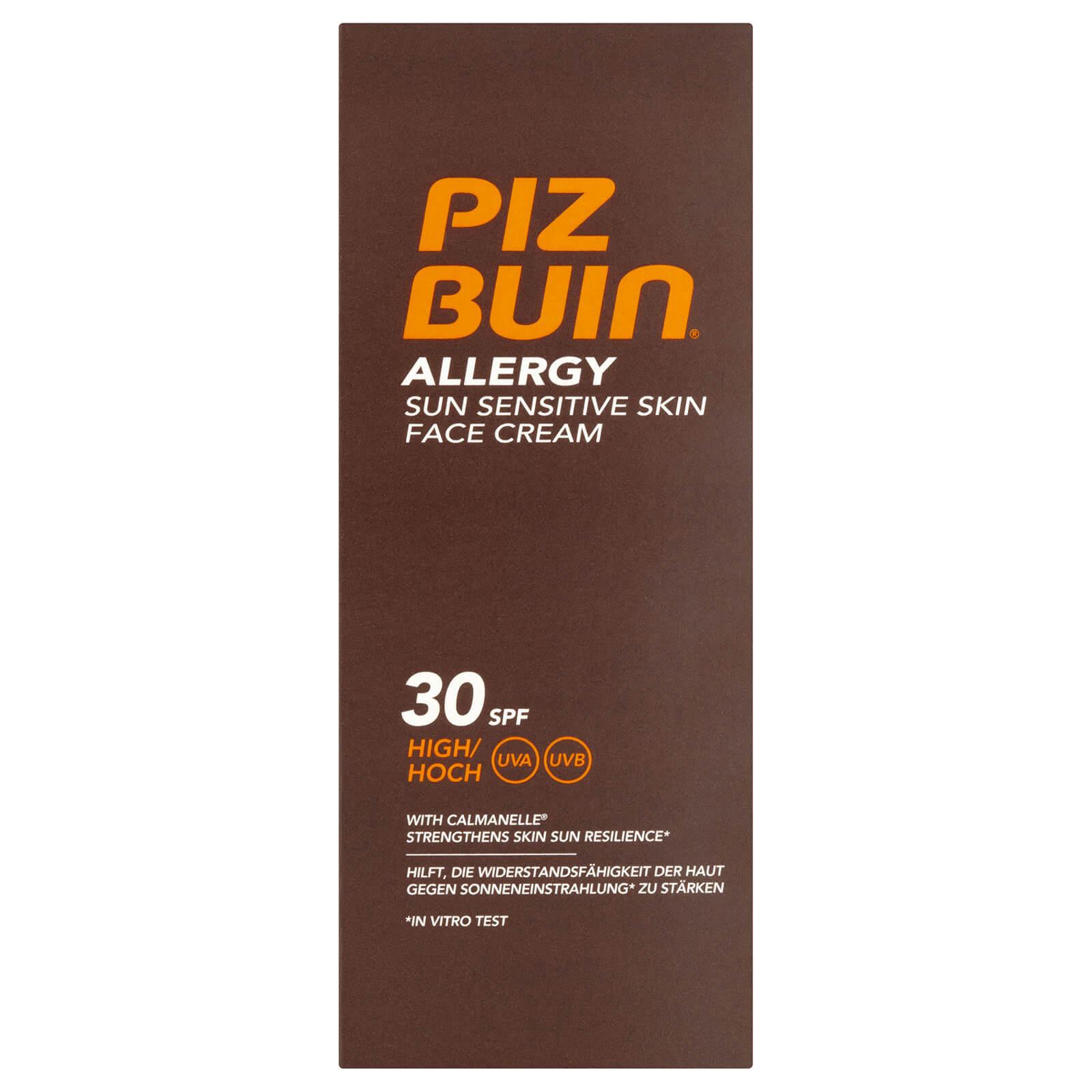 Купить Солнцезащитный крем для чувствительной кожи Piz Buin Allergy Sun Sensitive Skin Face Cream - High SPF30 50 мл