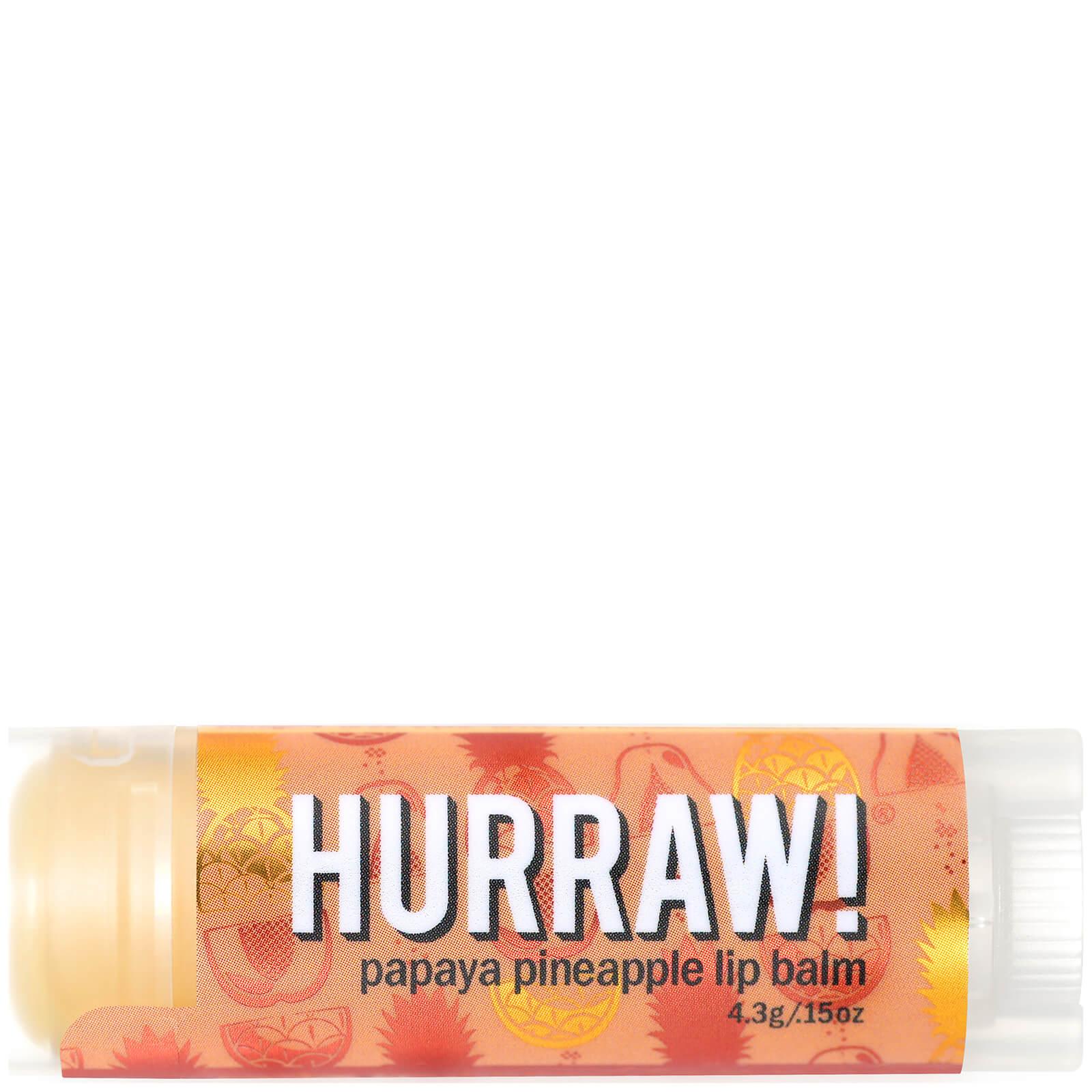 Купить Бальзам для губ с ароматом папайи и ананаса Hurraw! Papaya Pineapple Lip Balm