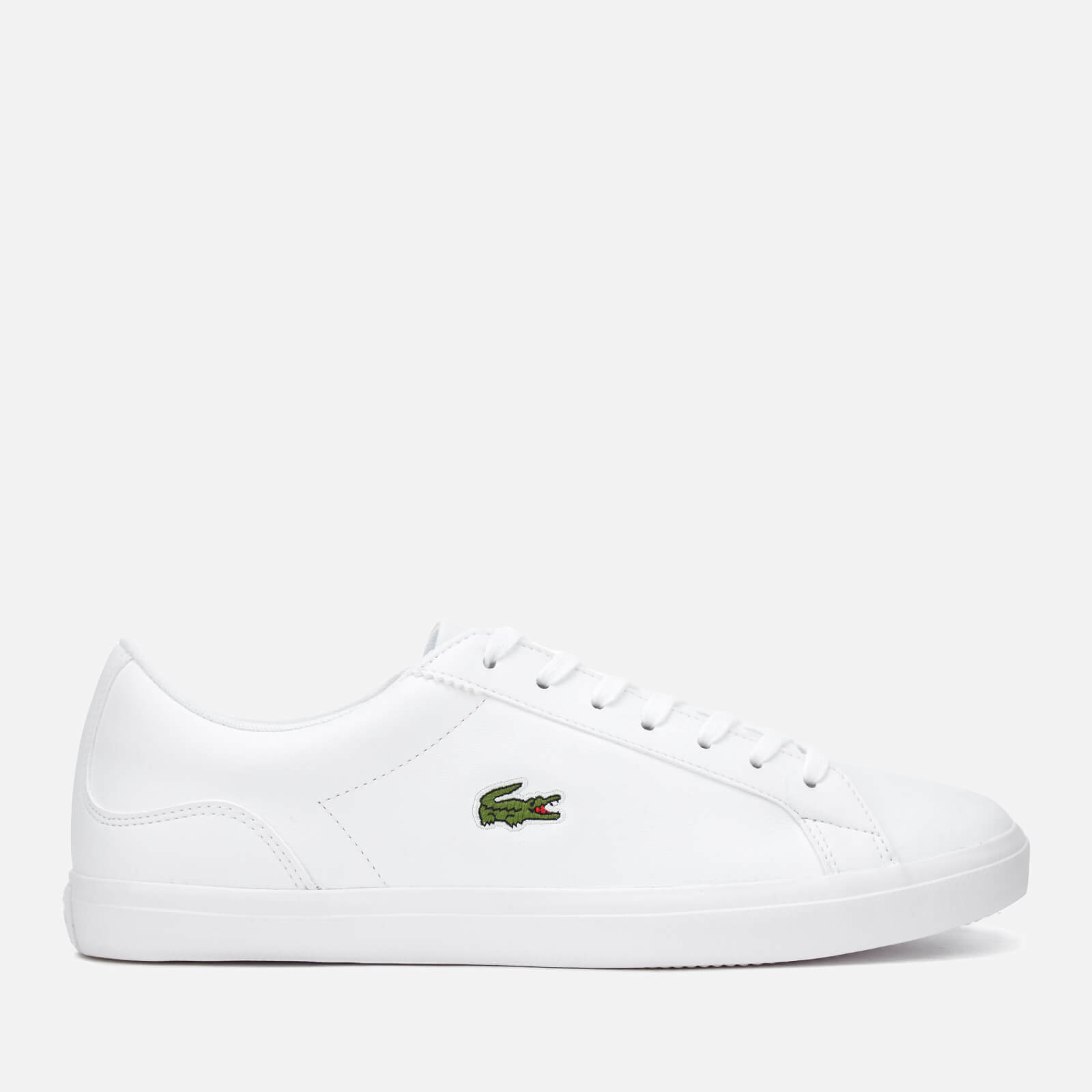 Lacoste Mens Lerond Bl 1 Leather Trainers White Uk 7 White
