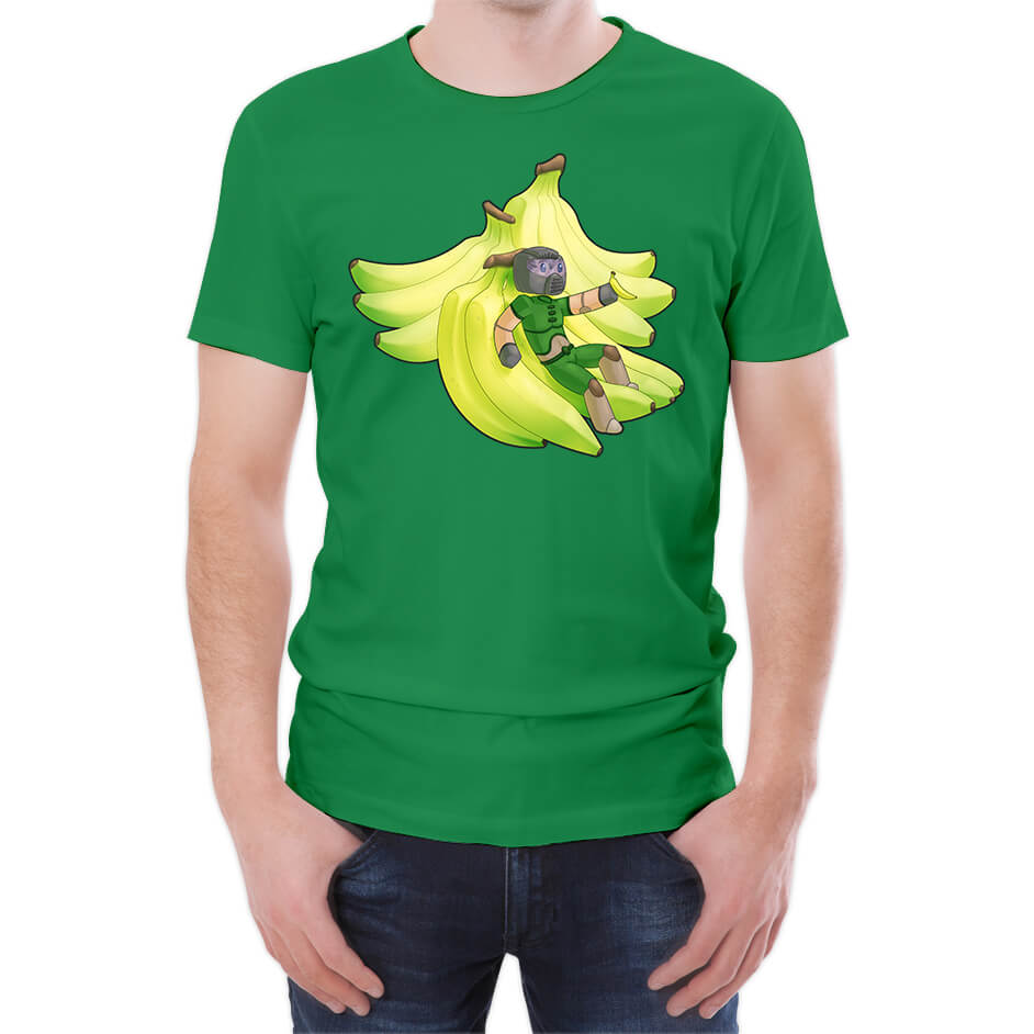 Xisuma Banana's Green T-Shirt - L - Green