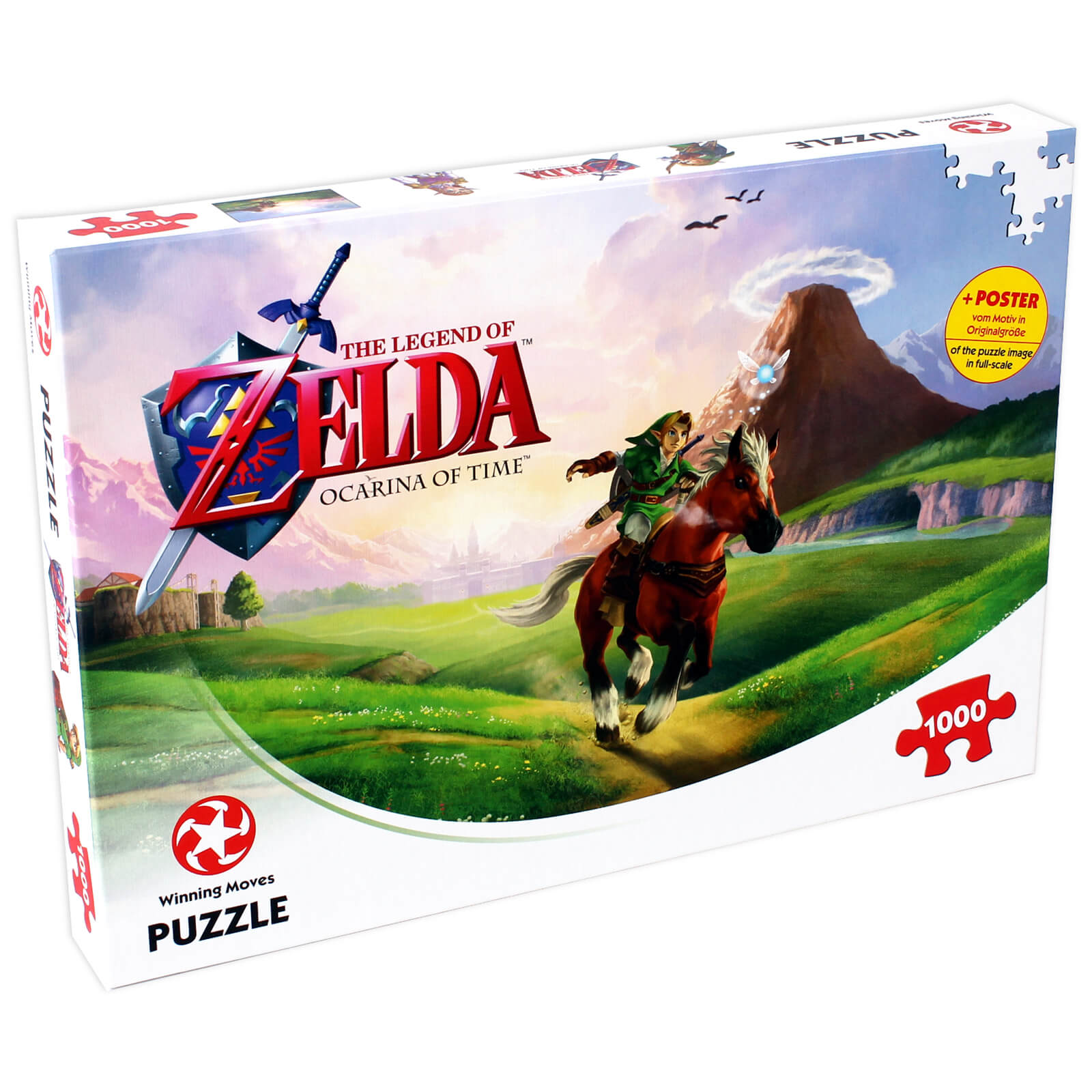 Image of 1000 Piece Jigsaw Puzzle - The Legend of Zelda Ocarina of Time Edition