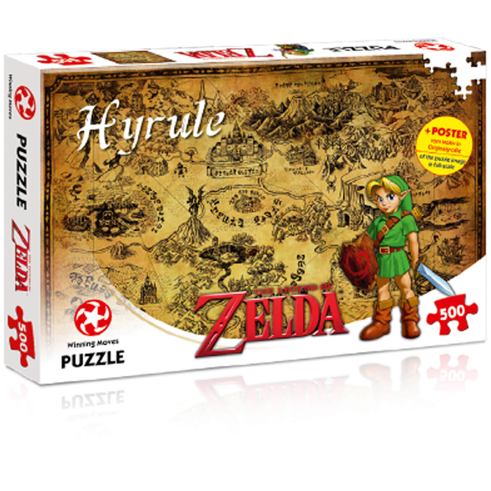 Image of 500 Piece Jigsaw Puzzle - Zelda Hyrule Field Edition