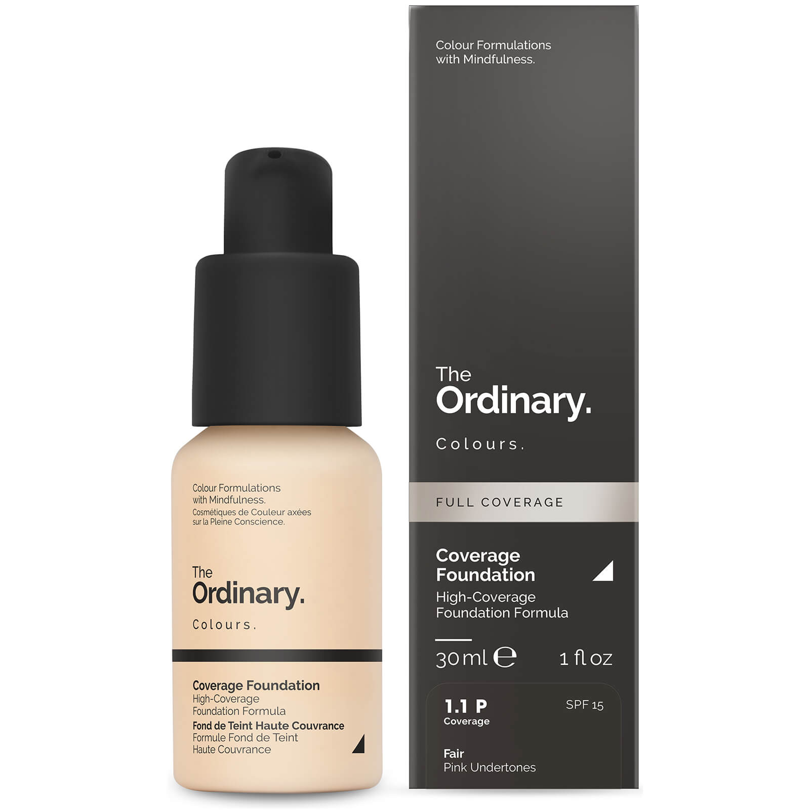 The Ordinary Coverage Foundation with SPF 15 by The Ordinary Colours 30ml (Various Shades) - 1.1P
