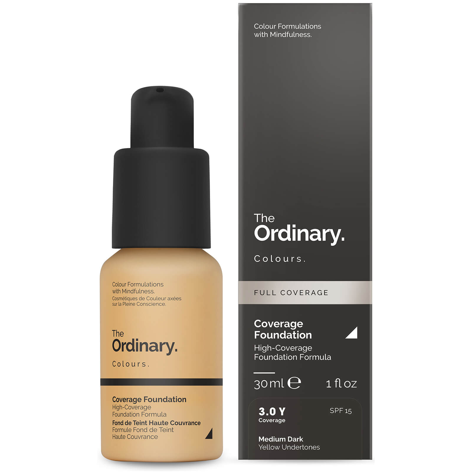 The Ordinary Coverage Foundation with SPF 15 by The Ordinary Colours 30ml (Various Shades) - 3.0Y