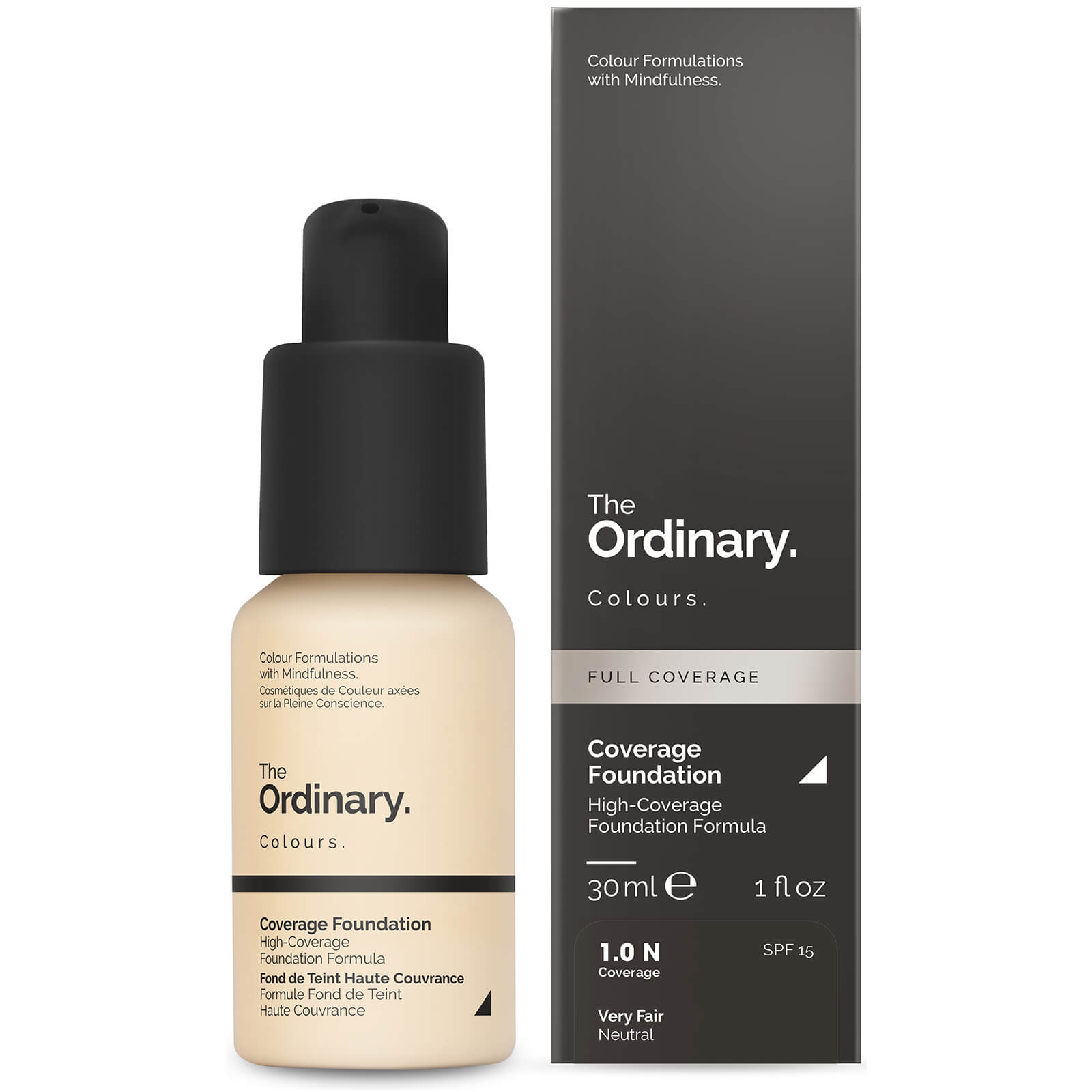 The Ordinary Coverage Foundation with SPF 15 by The Ordinary Colours 30ml (Various Shades) - 3.3N