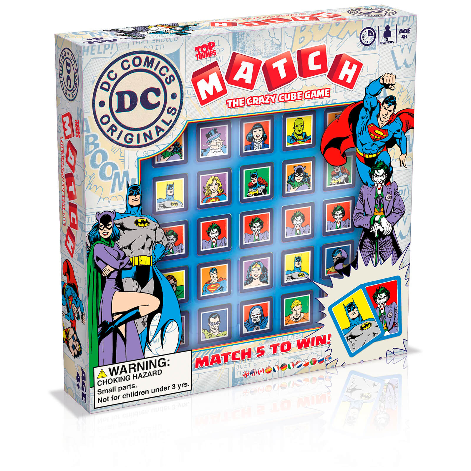 Image of Top Trumps Match Board Game - DC Comics Edition