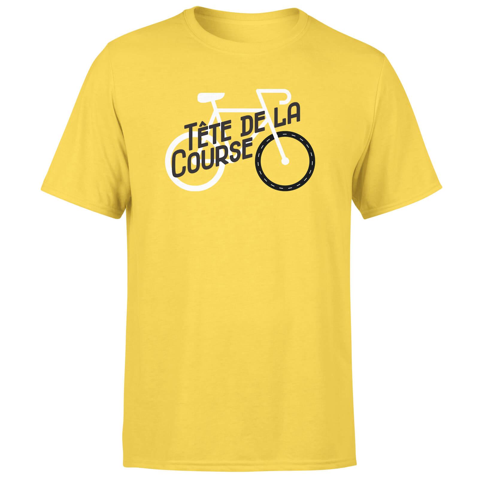Tete De La Course Men's Yellow T-Shirt - L - Yellow