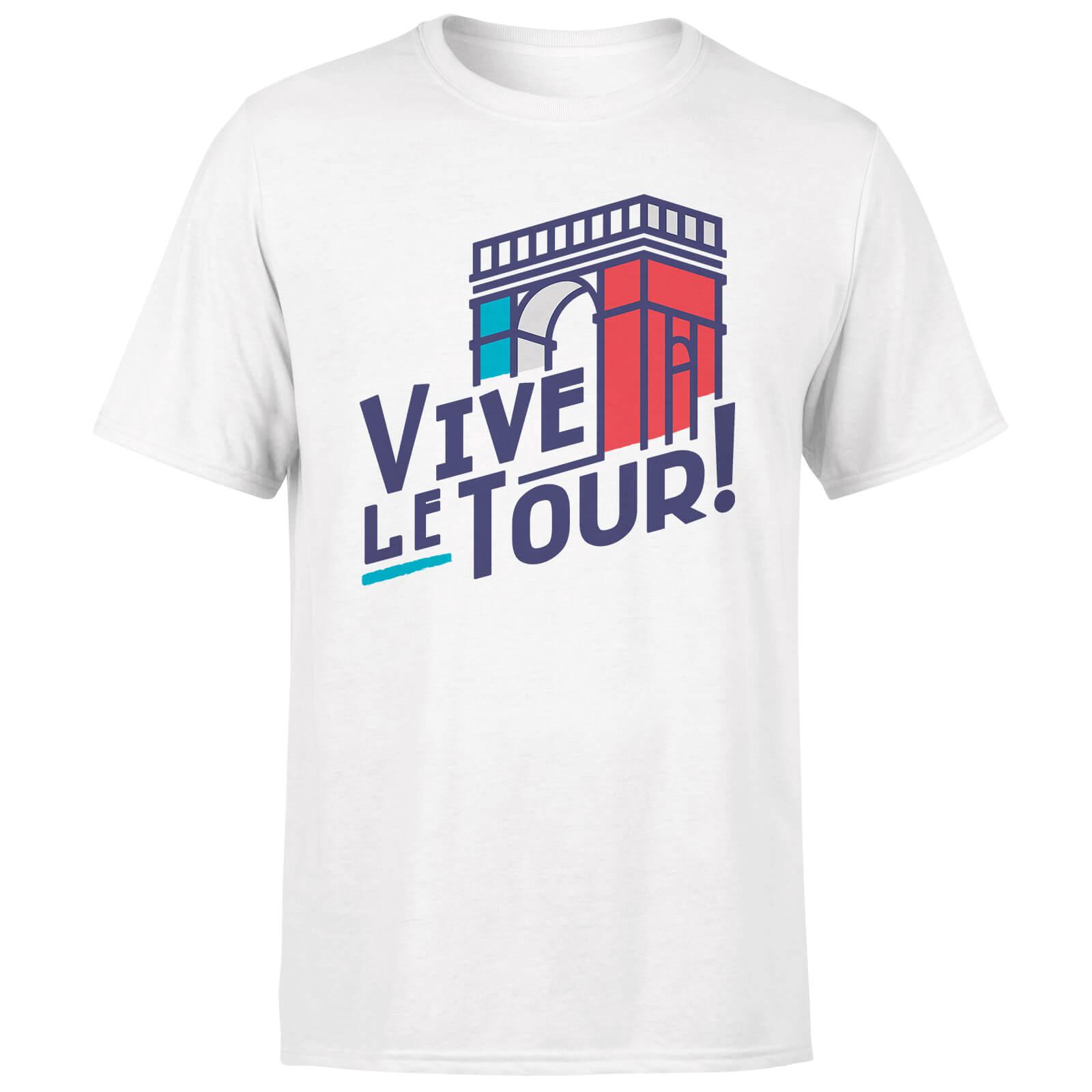 Vive Le Tour Men's White T-Shirt - M - White