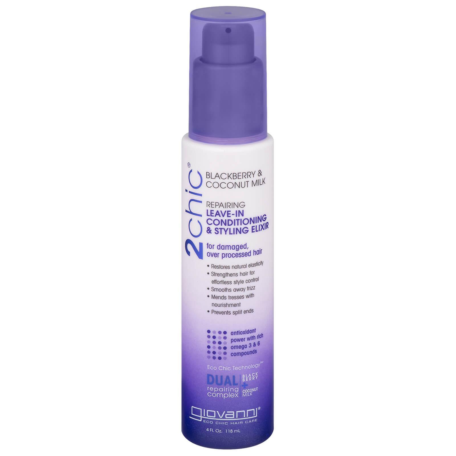 Купить Восстанавливающий эликсир для поврежденных волос Giovanni 2chic Repairing Leave In Conditioning & Styling Elixir 118 мл