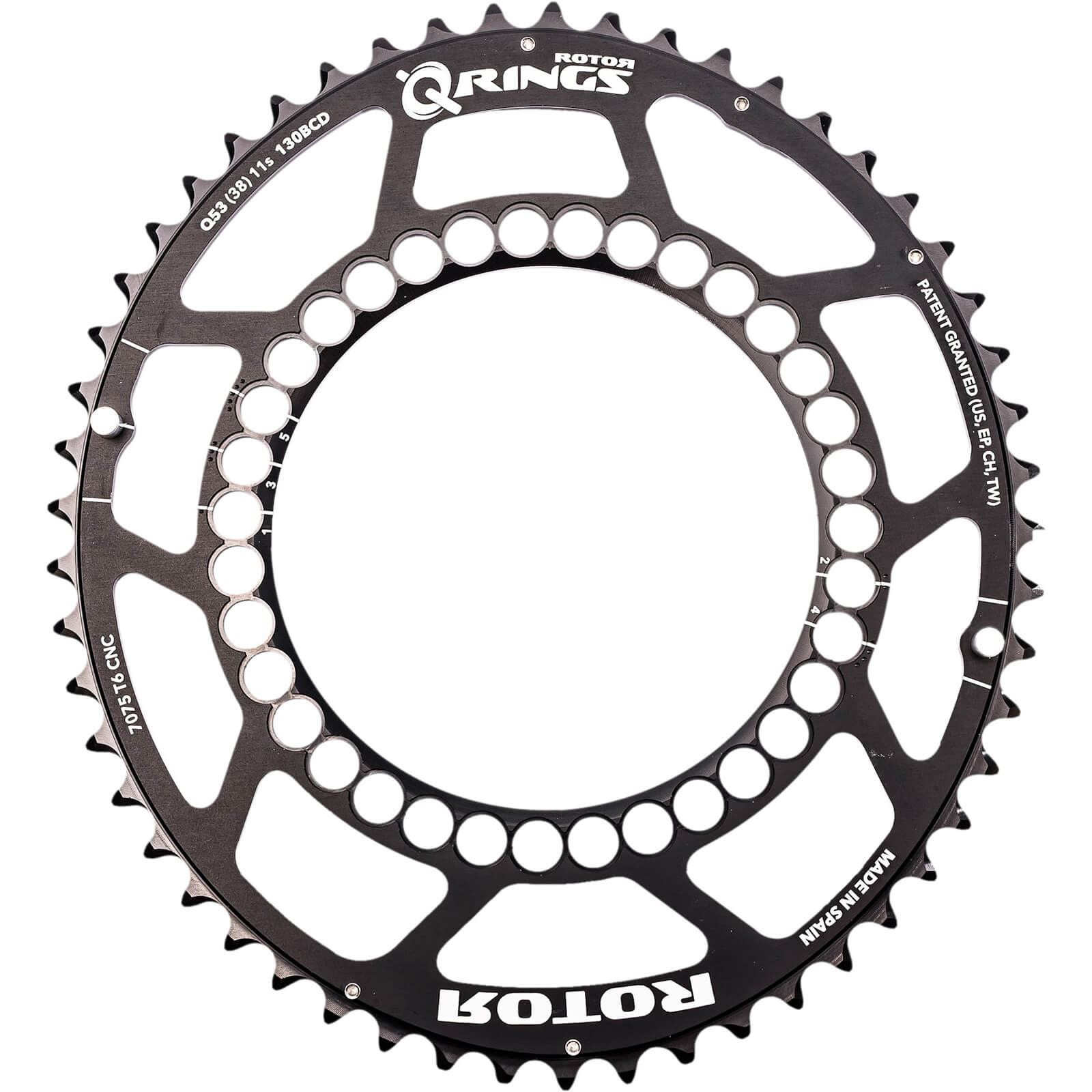Rotor Q Outer Chainring 5 Bolt - 50T - 110BCD - Schwarz