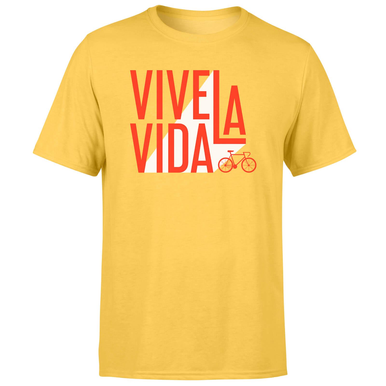 Vive La Vida Men's Yellow T-Shirt - S - Gelb