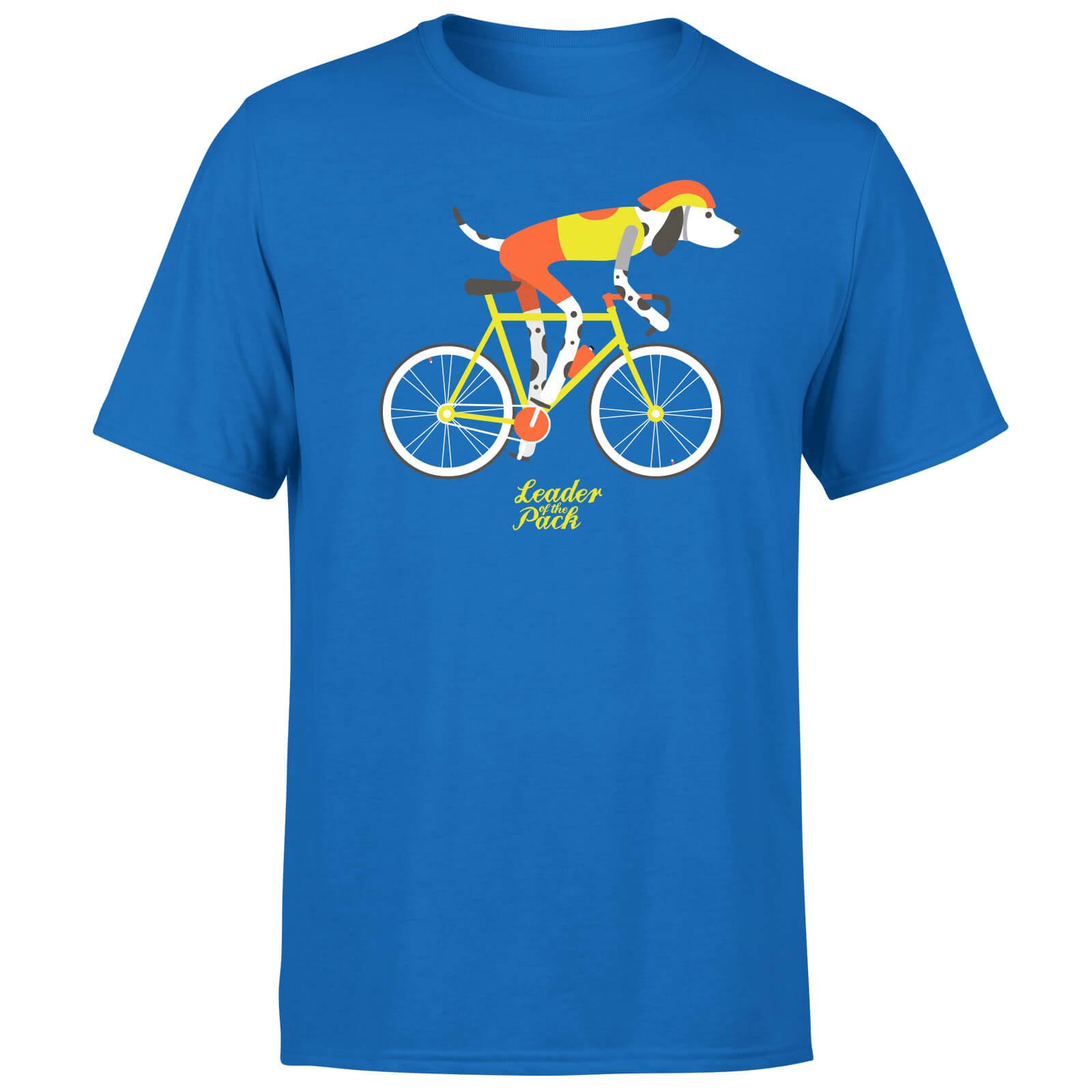 Leader Of The Pack Men's Blue T-Shirt - S - Blue