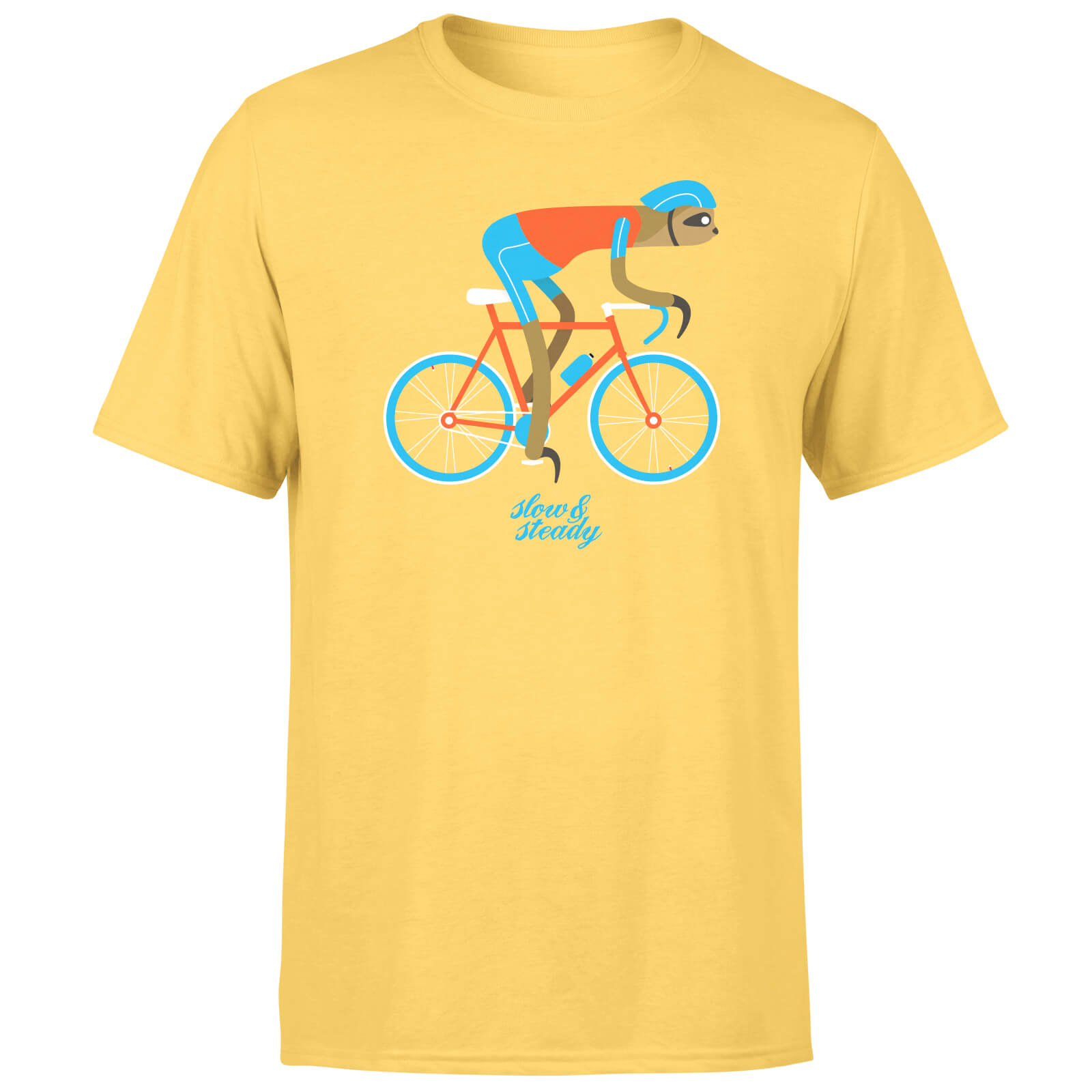 Slow And Steady Sloth Men's Yellow T-Shirt - S - Yellow