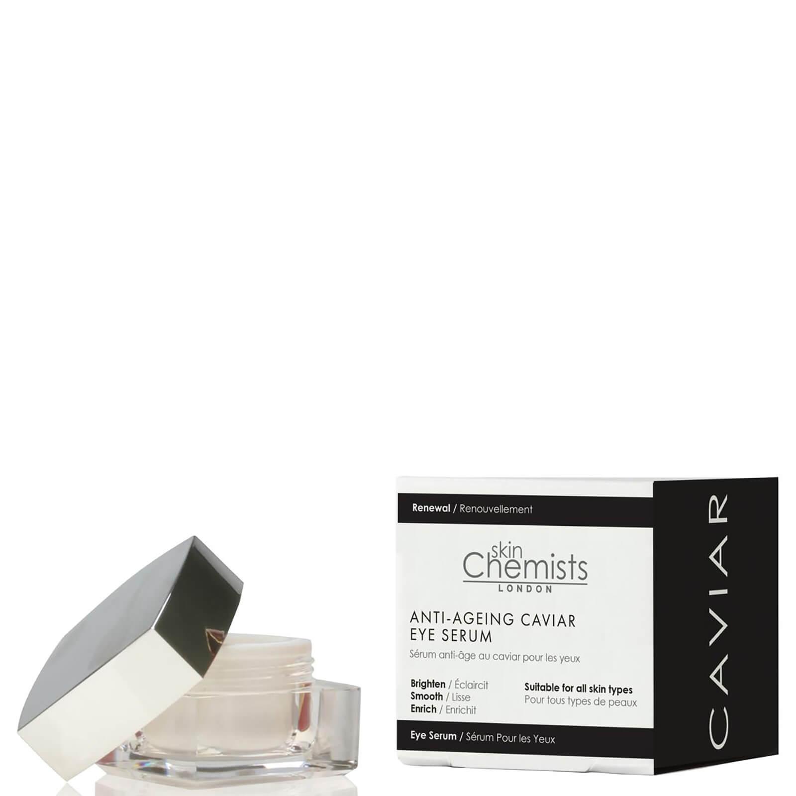 Купить Антивозрастная сыворотка для кожи вокруг глаз с экстрактом икры skinChemists London Anti-Ageing Caviar Eye Serum 10мл