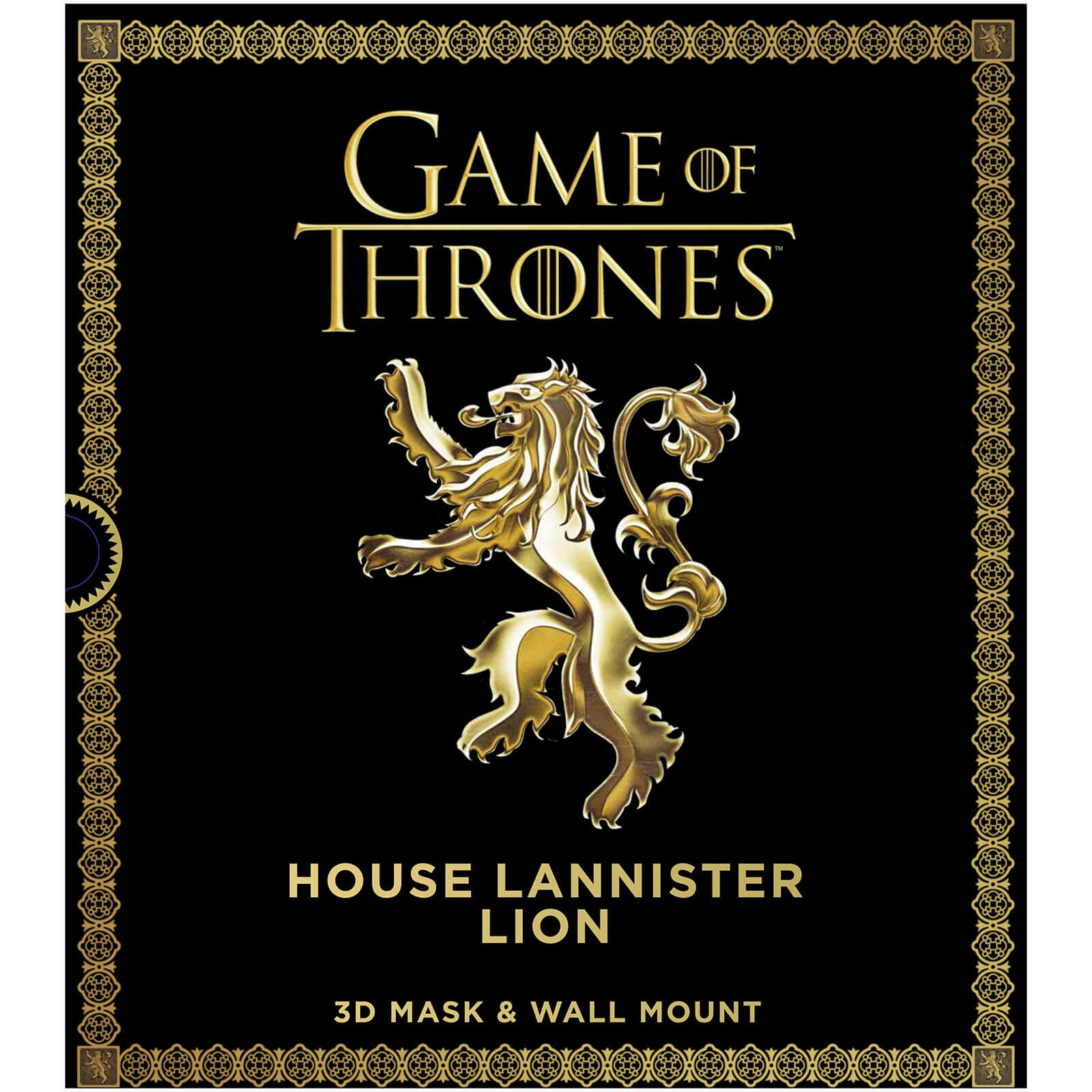 Máscara 3D león Lannister, Juego de Tronos