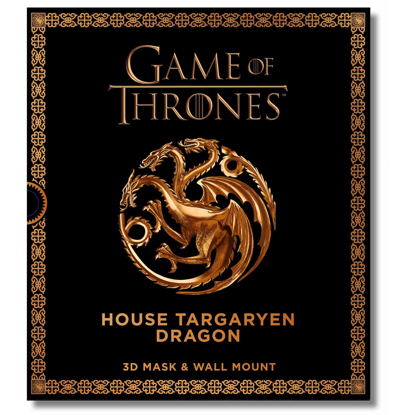 Máscara 3D dragón Targaryen, Juego de Tronos
