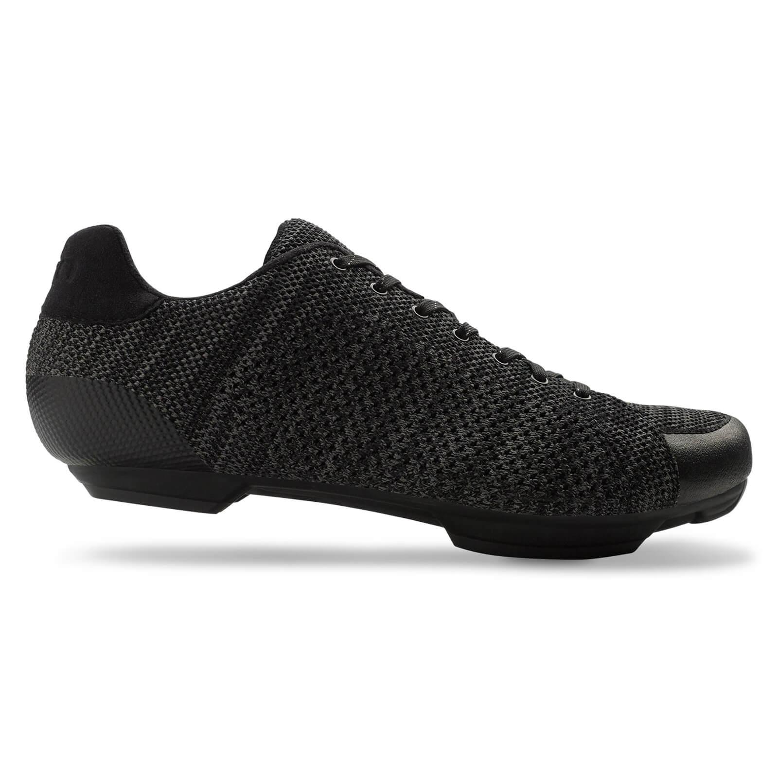 Giro Republic R Road Cycling Shoes - Black/Charcoal Leather - EU 46/UK 11 - Schwarz