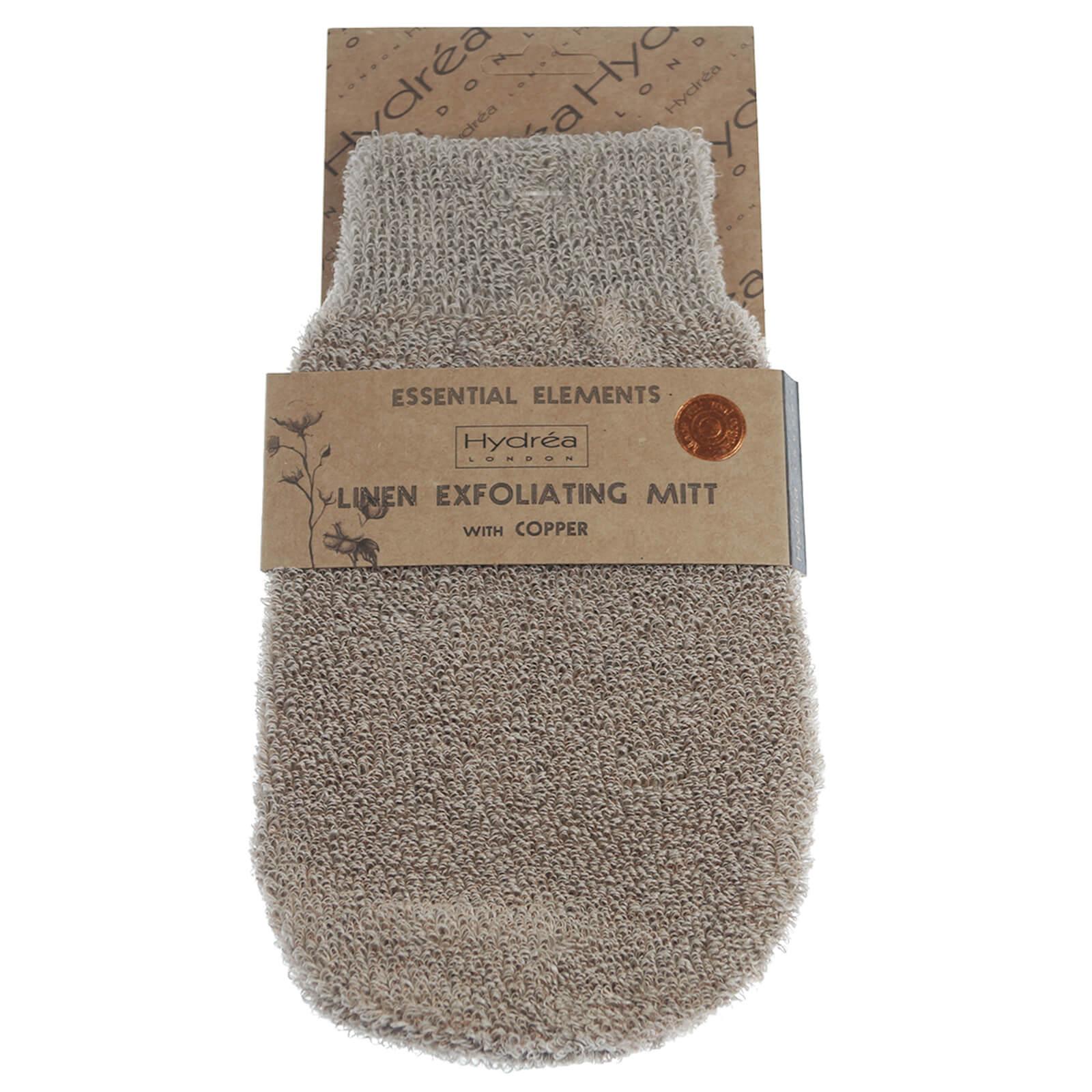 Купить Льняная рукавица с нитями меди с отшелушивающим эффектом Hydrea London Exfoliating Linen Mitt with Copper