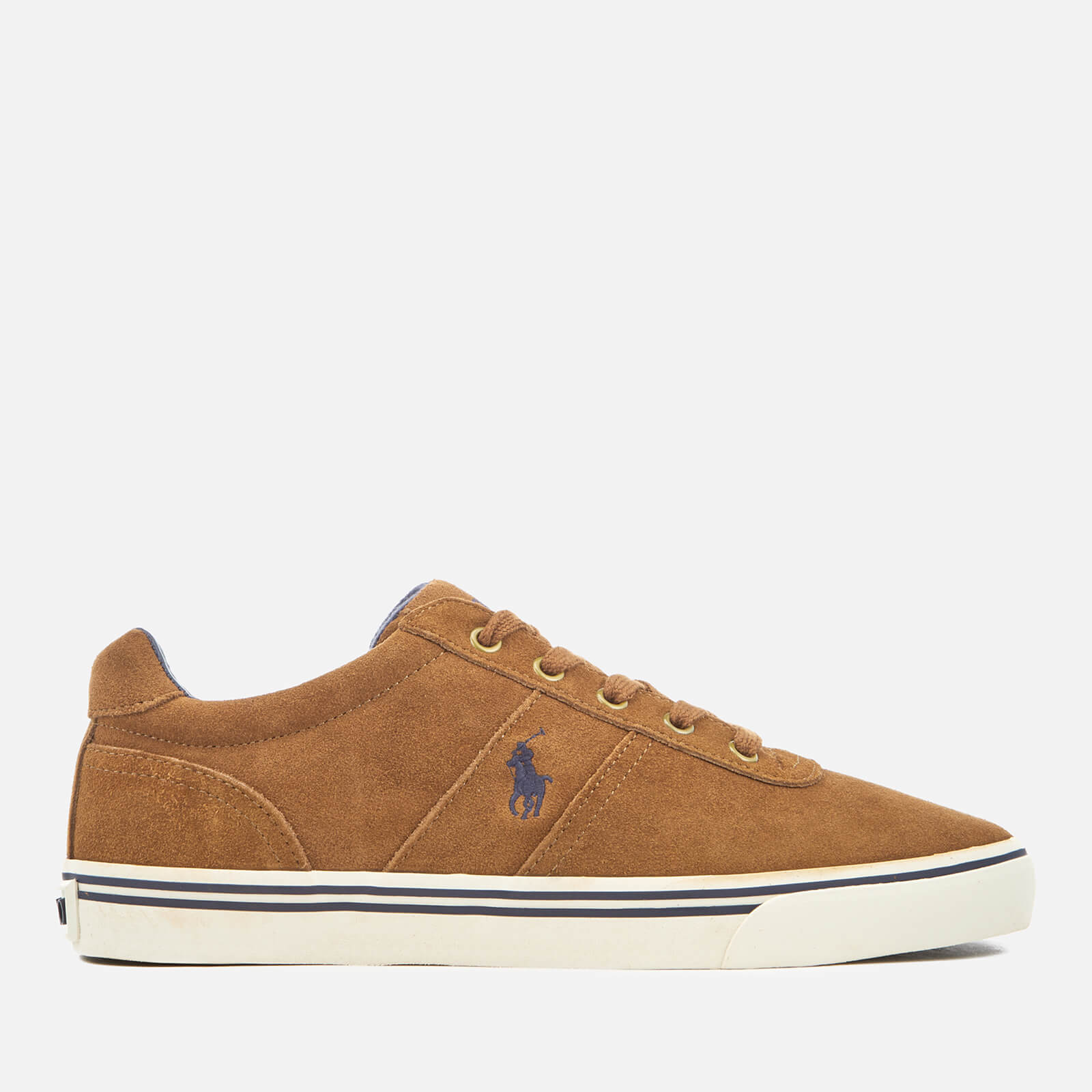 Polo Ralph Lauren Mens Hanford Vulcanised Suede Trainers New Snuff Uk 8 Tan