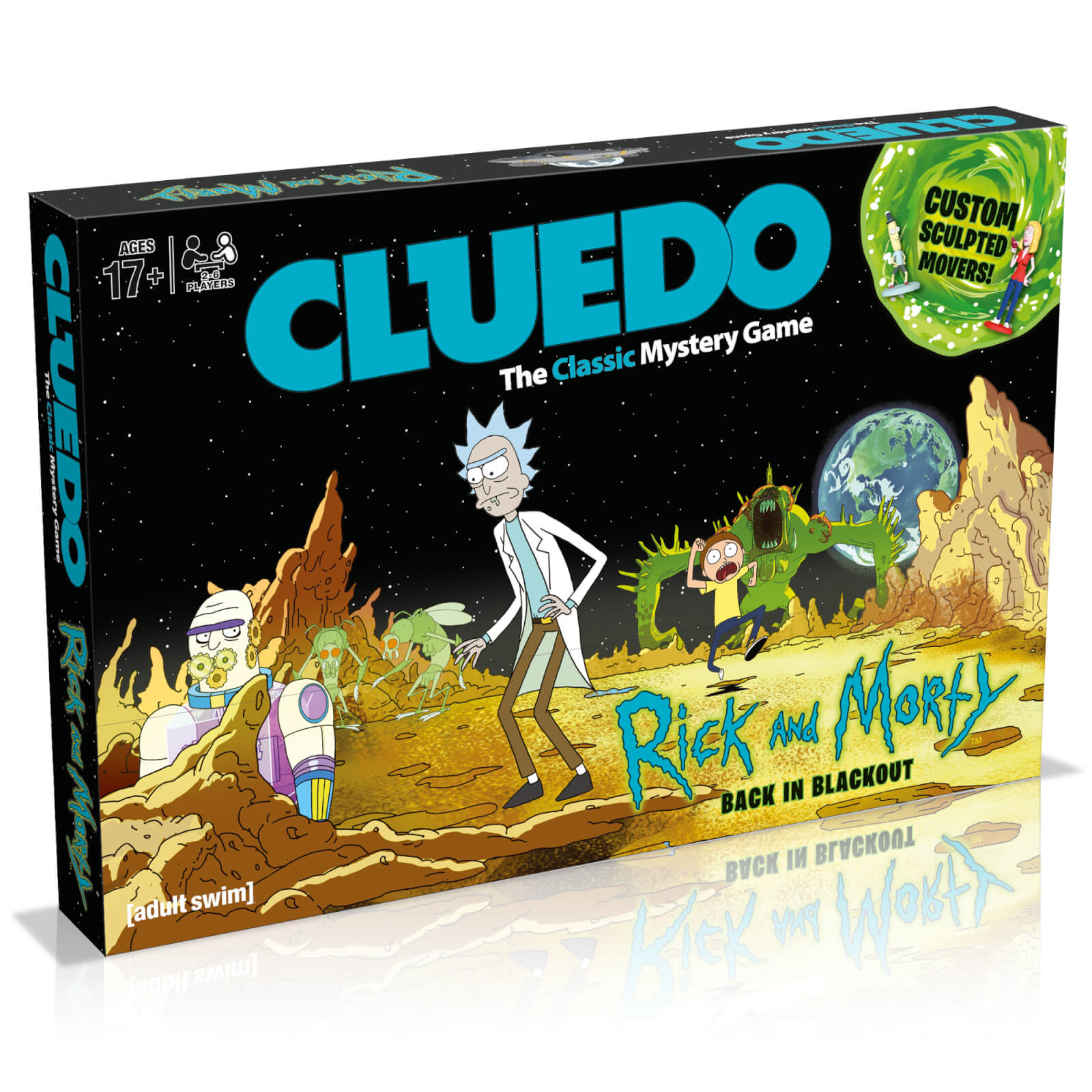 Image of Cluedo Mystery Board Game - Rick and Morty Edition