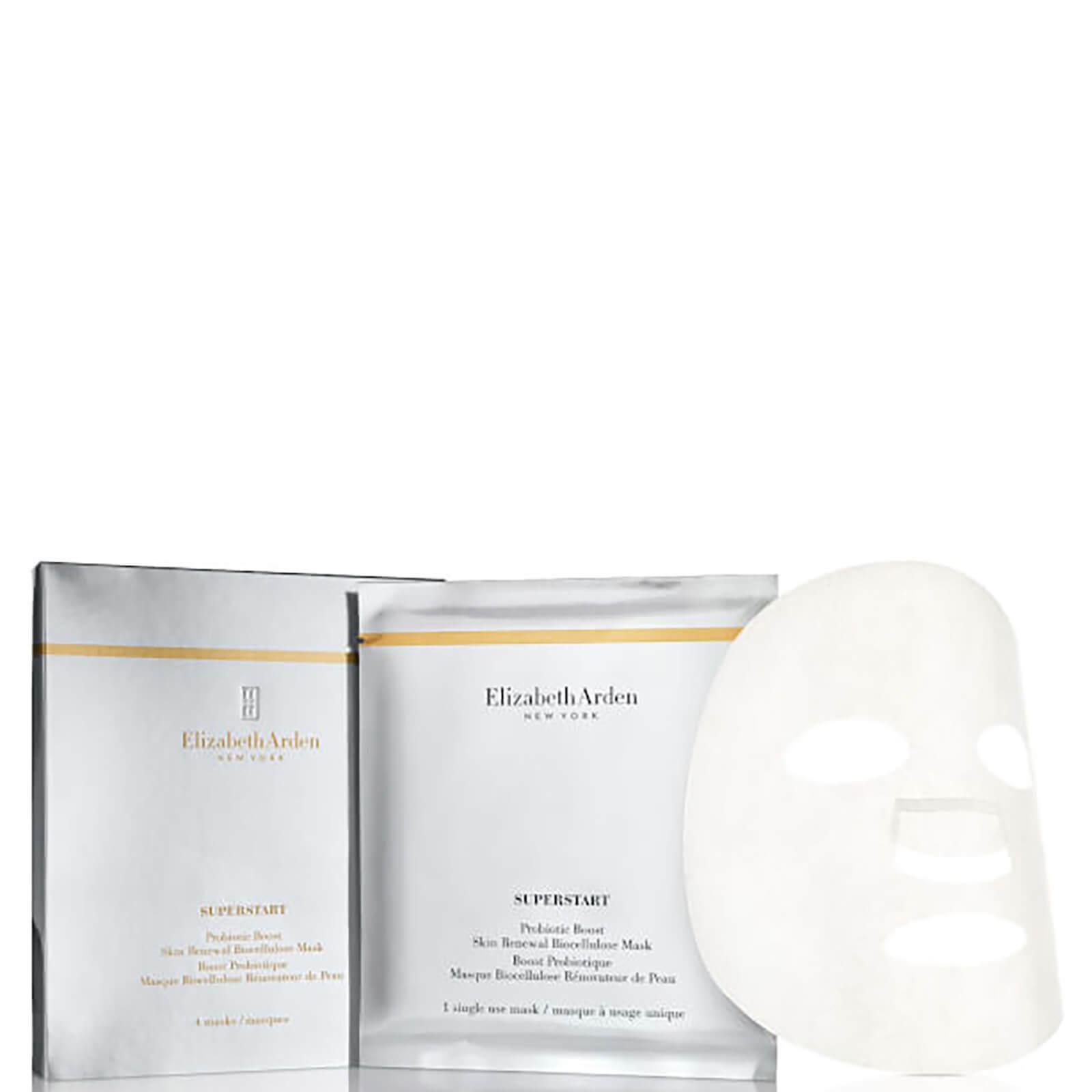 Elizabeth Arden Superstart Probiotic Boost Skin Renewal Bio Cellulose Mask (4 Masks)