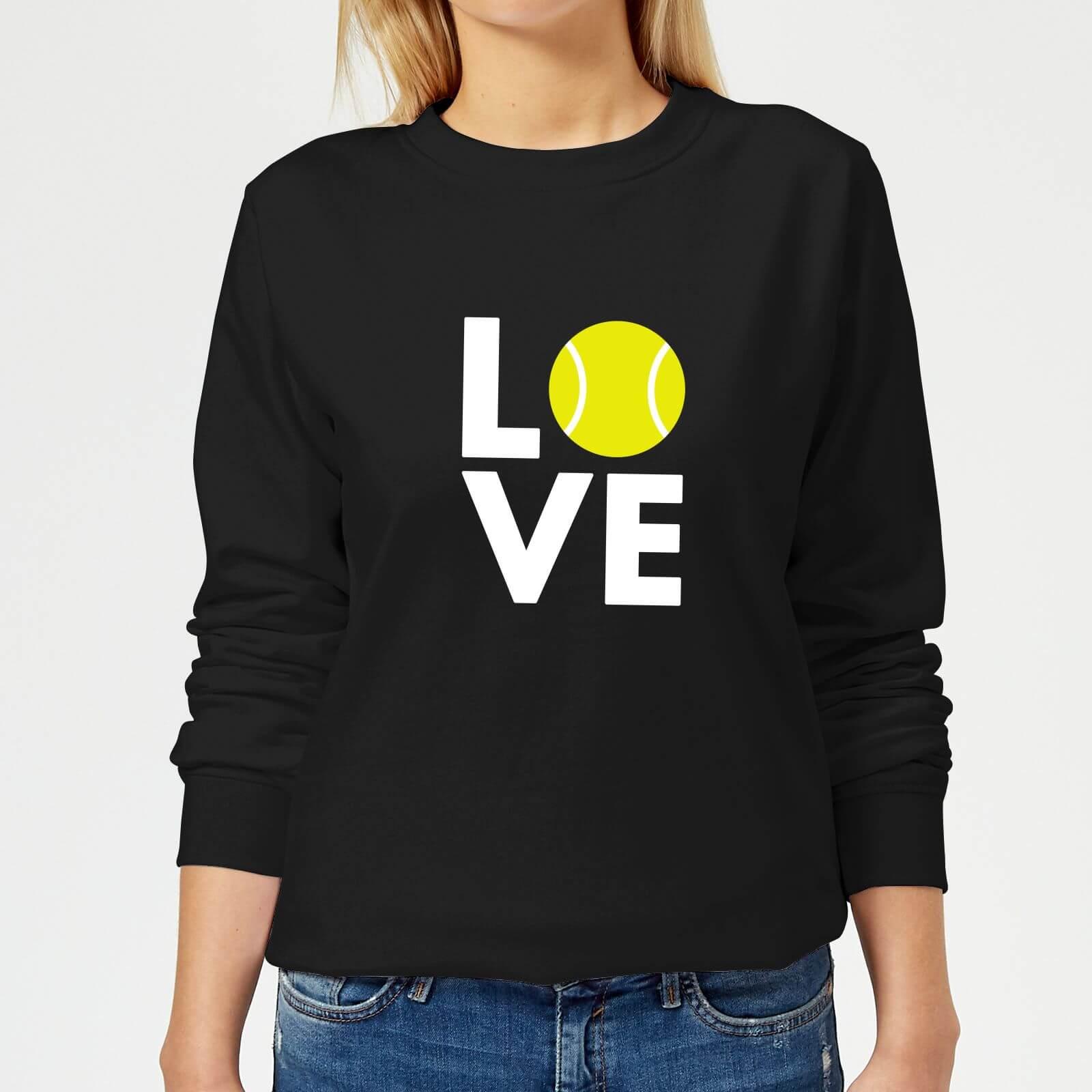Love Tennis Womens Sweatshirt   Black   XS   Black