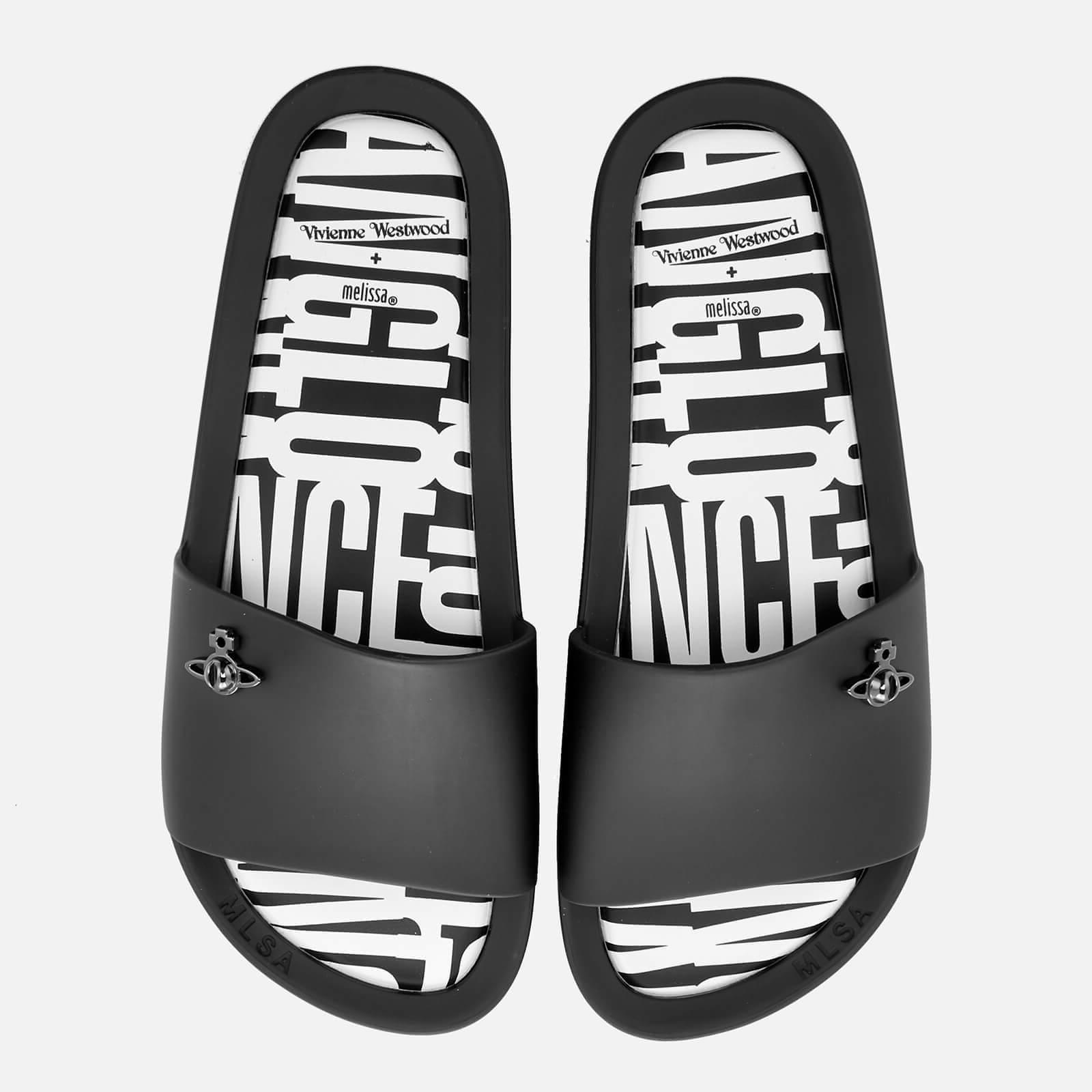 Vivienne Westwood for Melissa Women's Beach Slide 20 Sandals - Black Orb - UK 5