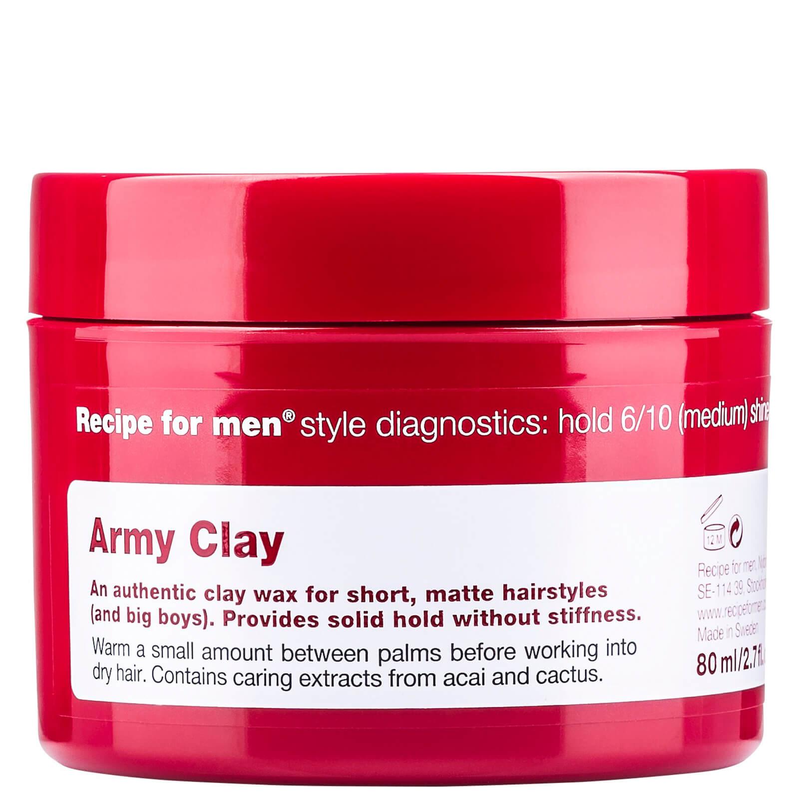 Купить Глина-воск для укладки волос «Армия», мужская линия Recipe for Men Army Clay Wax 80мл