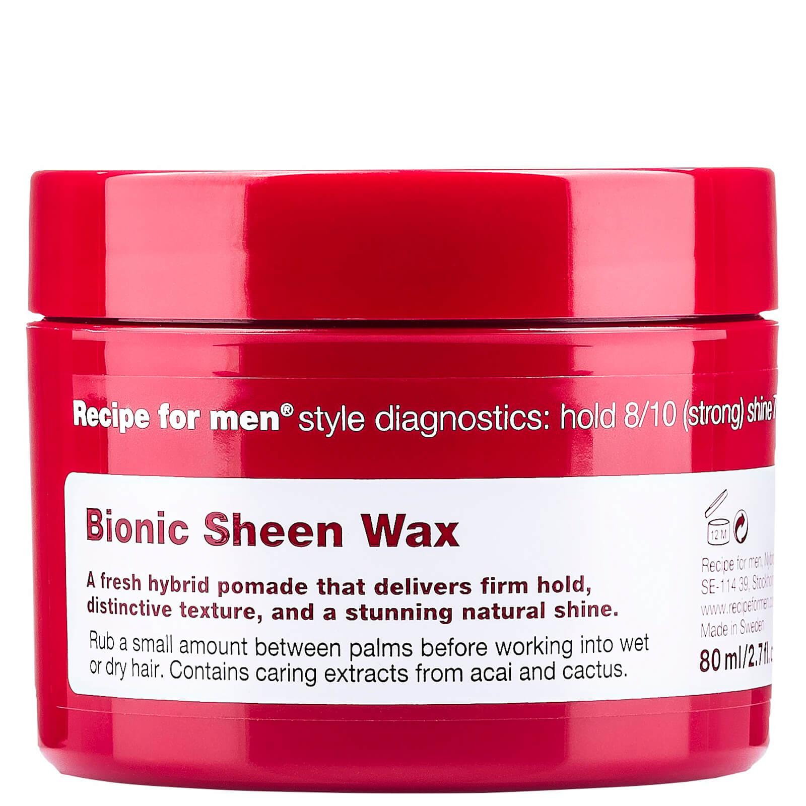 Купить Придающий сияние воск для укладки волос, мужская линия Recipe for Men Bionic Sheen Wax 80мл