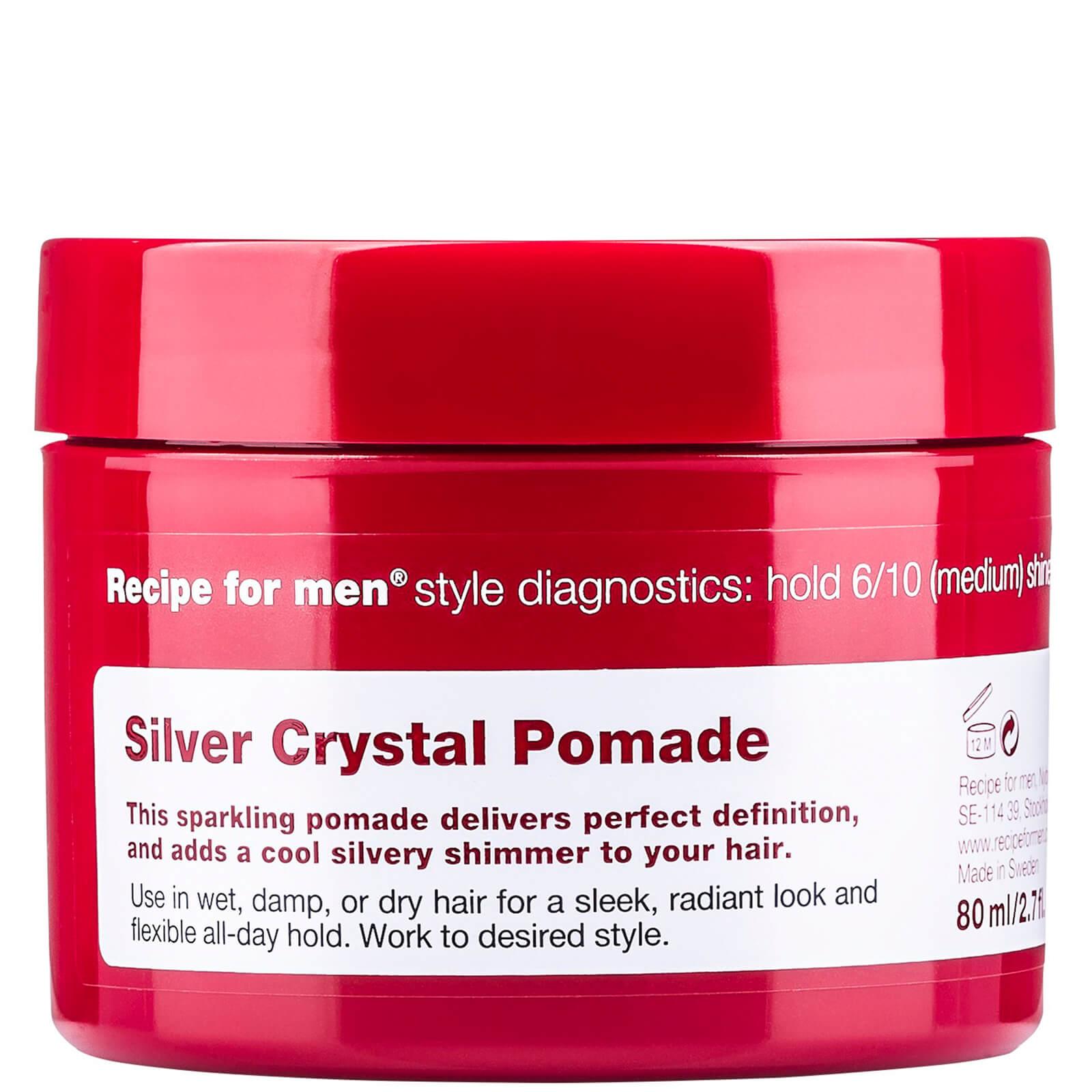 Купить Придающая серебряный блеск помада для укладки волос, мужская линия Recipe for Men Silver Crystal Pomade 80мл