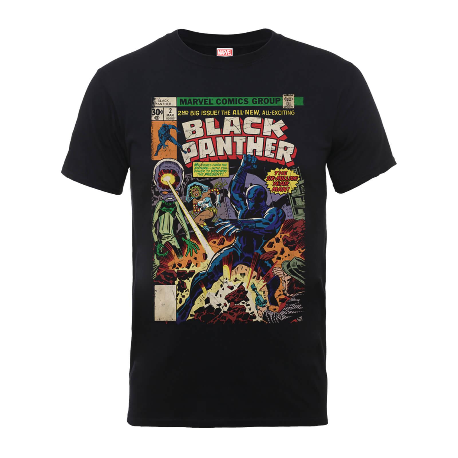 T-Shirt Marvel Comics The Black Panther Big Issue Black - Uomo - S - Nero