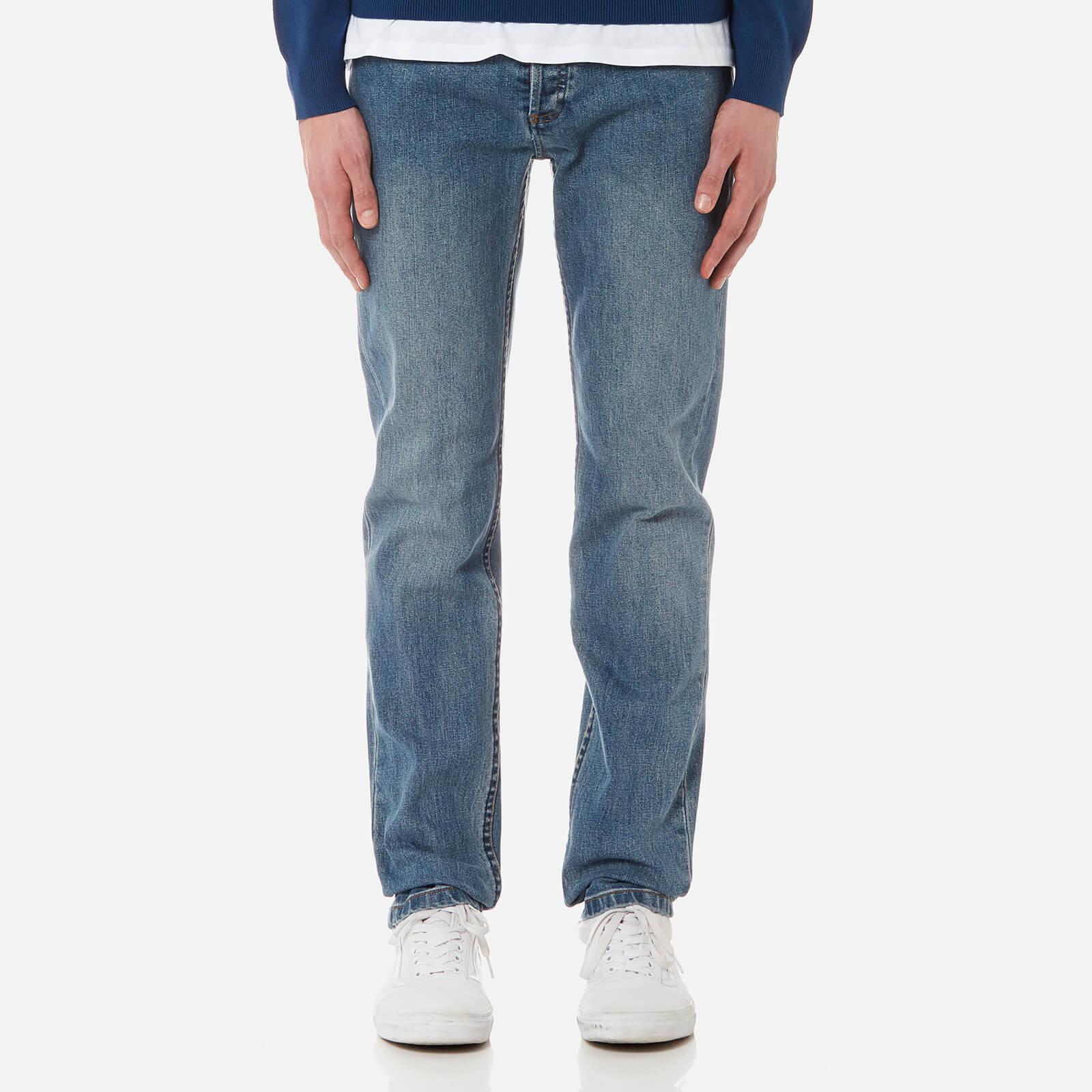 A.P.C. Men's Petit New Standard Mid Rise Tight Leg Jeans - Indigo - W32 - Blue