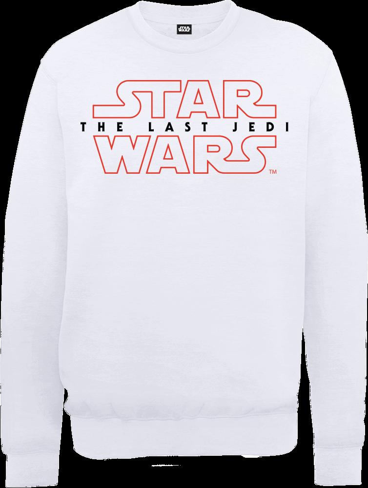 Star Wars Die letzten Jedi (The Last Jedi) Men's White Pullover - L - Weiß