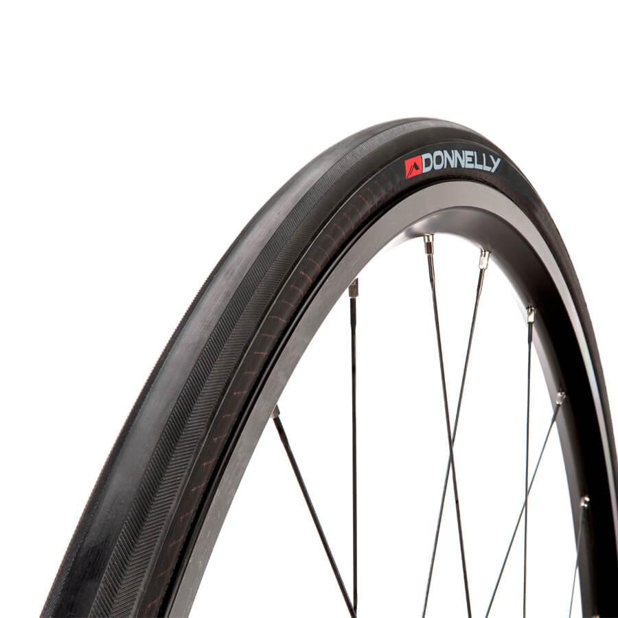 Donnelly Strada LGG DC Folding Clincher Road Tyre - 700X23C - Black/Black