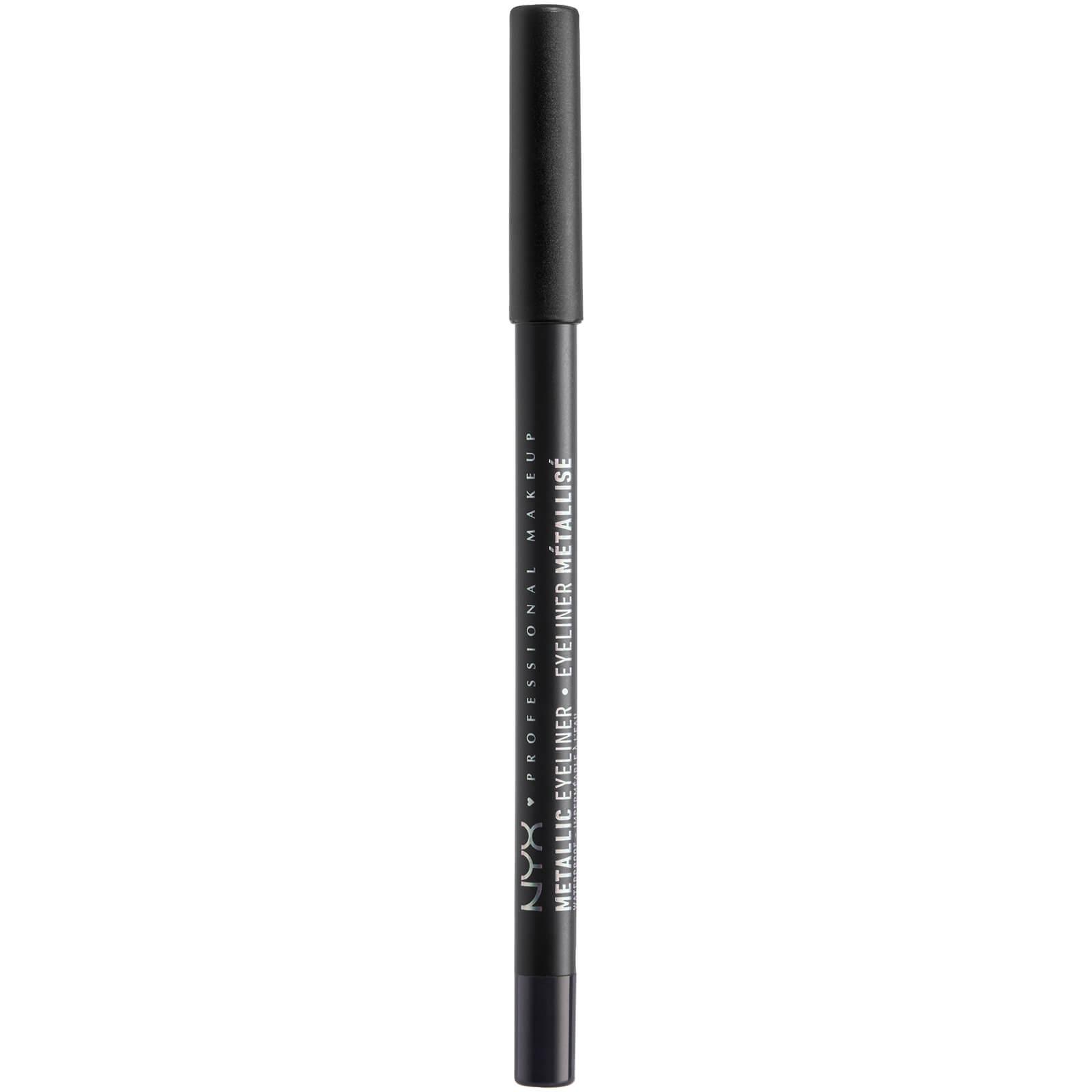 NYX Professional Makeup Metallic Eyeliner (Various Shades) - Black Metal