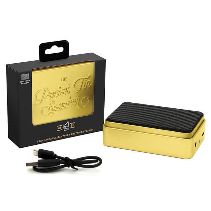 Image of The Pocket Tin Speaker 2.0 - Gold