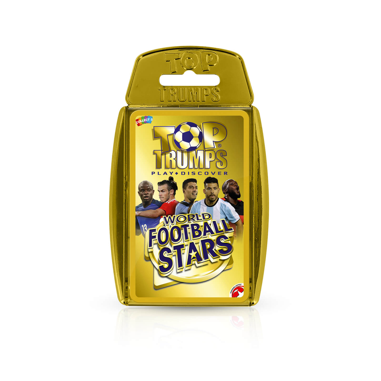 Image of Top Trumps Card Game - World Football Stars Gold Edition